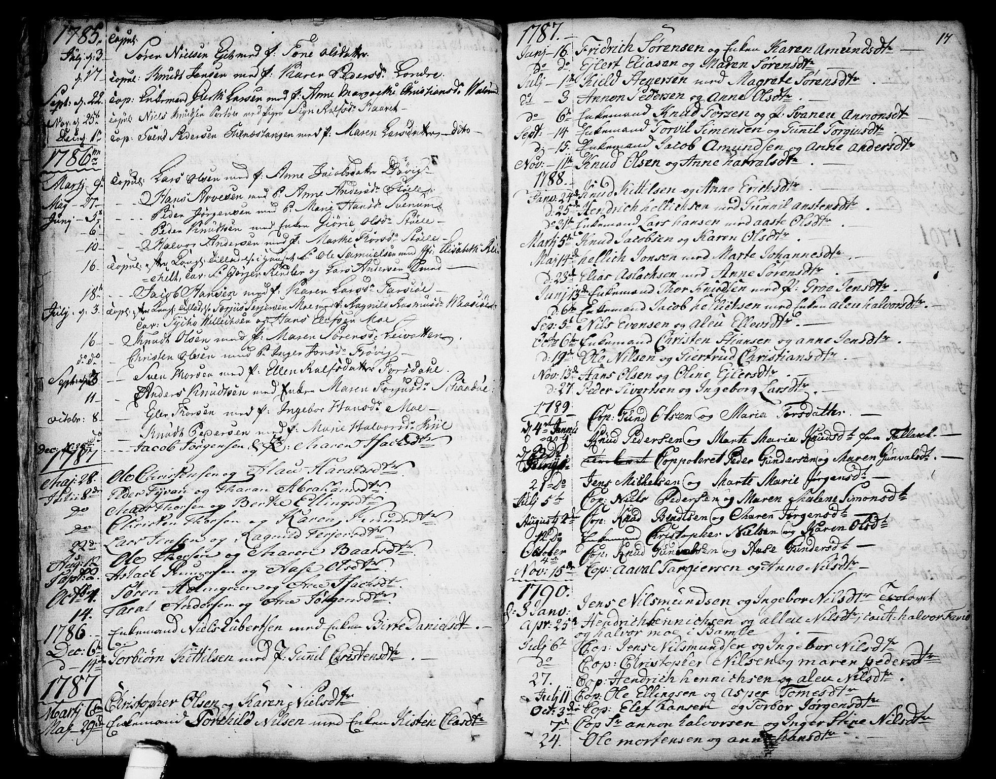 SAKO, Sannidal kirkebøker, F/Fa/L0002: Ministerialbok nr. 2, 1767-1802, s. 17