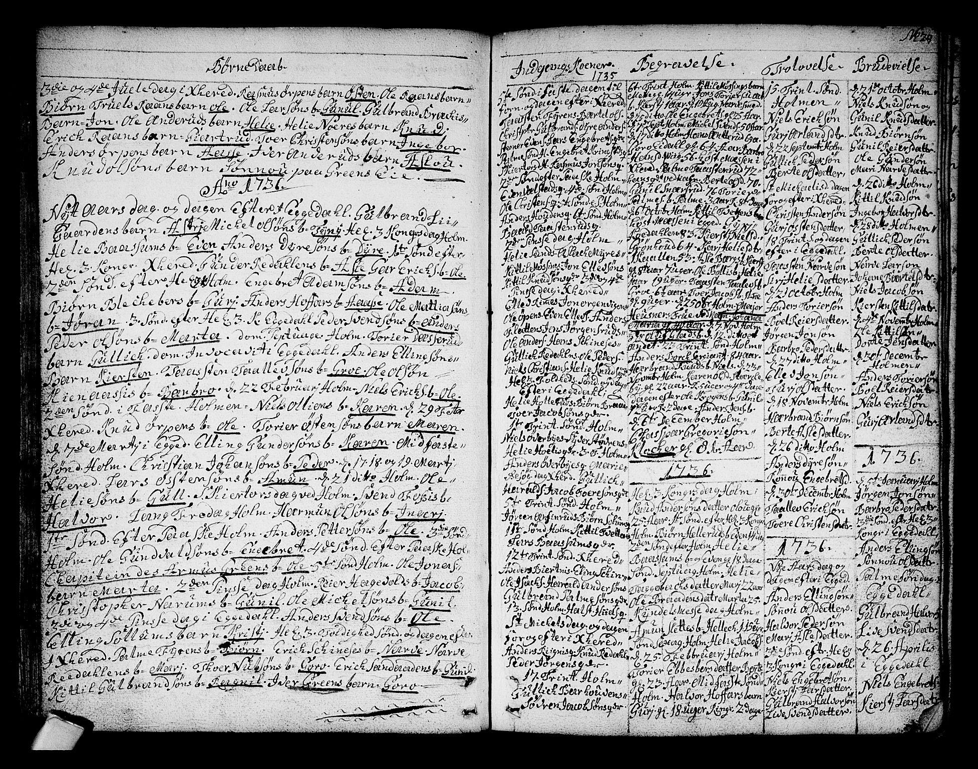 SAKO, Sigdal kirkebøker, F/Fa/L0001: Ministerialbok nr. I 1, 1722-1777, s. 29