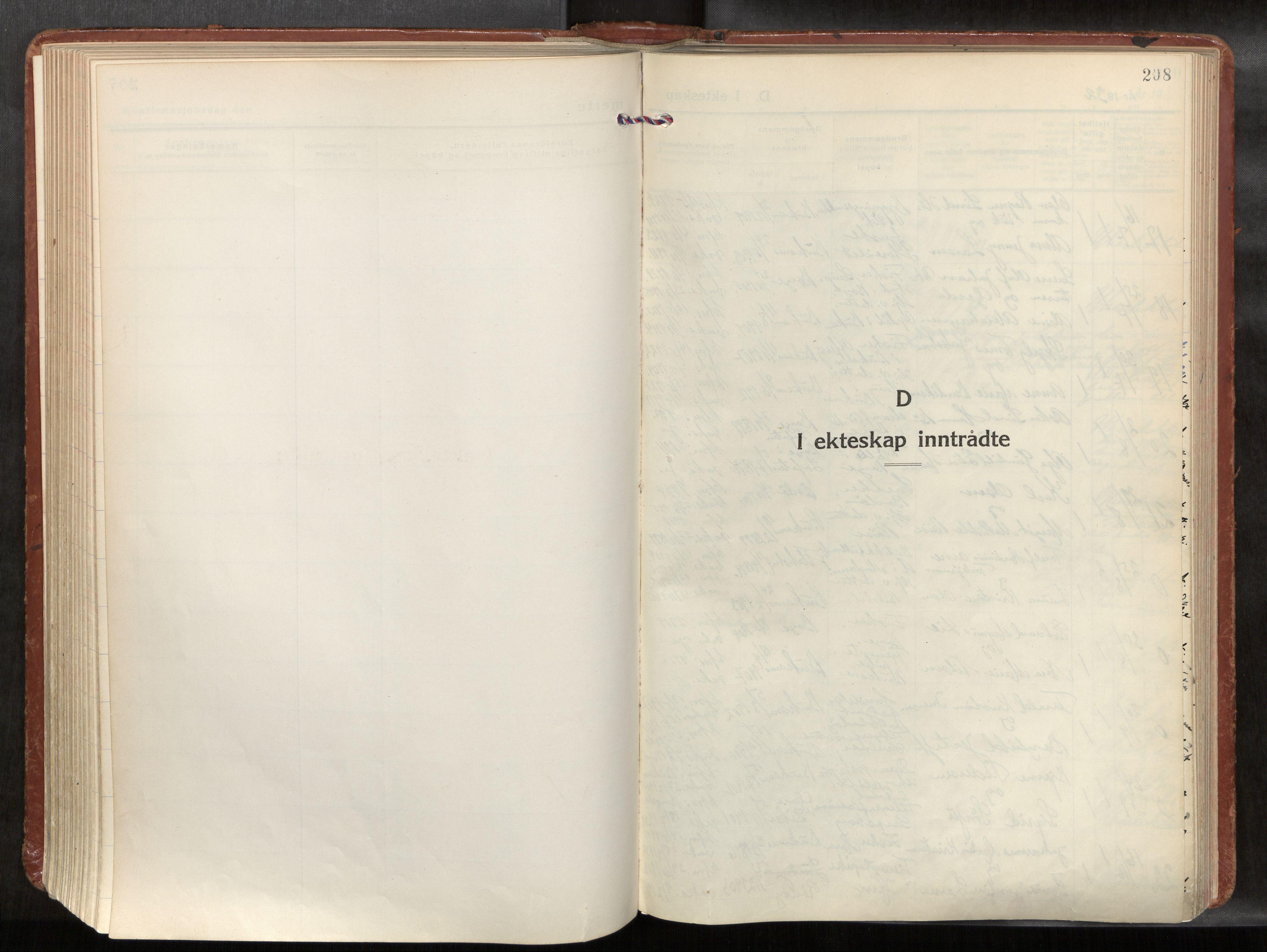 SAT, Ministerialprotokoller, klokkerbøker og fødselsregistre - Nordland, 881/L1161: Ministerialbok nr. 881A14, 1932-1955, s. 208