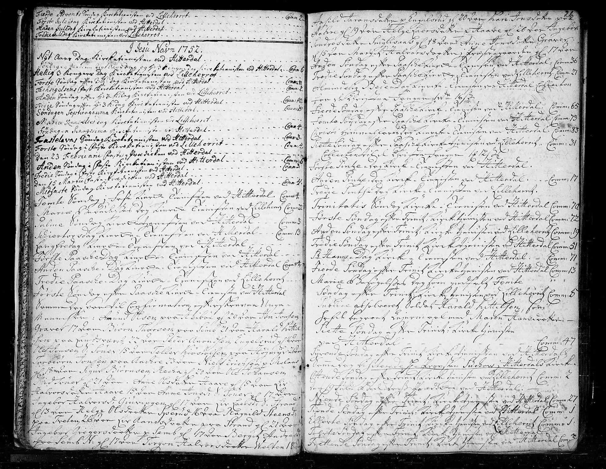 SAKO, Heddal kirkebøker, F/Fa/L0003: Ministerialbok nr. I 3, 1723-1783, s. 26