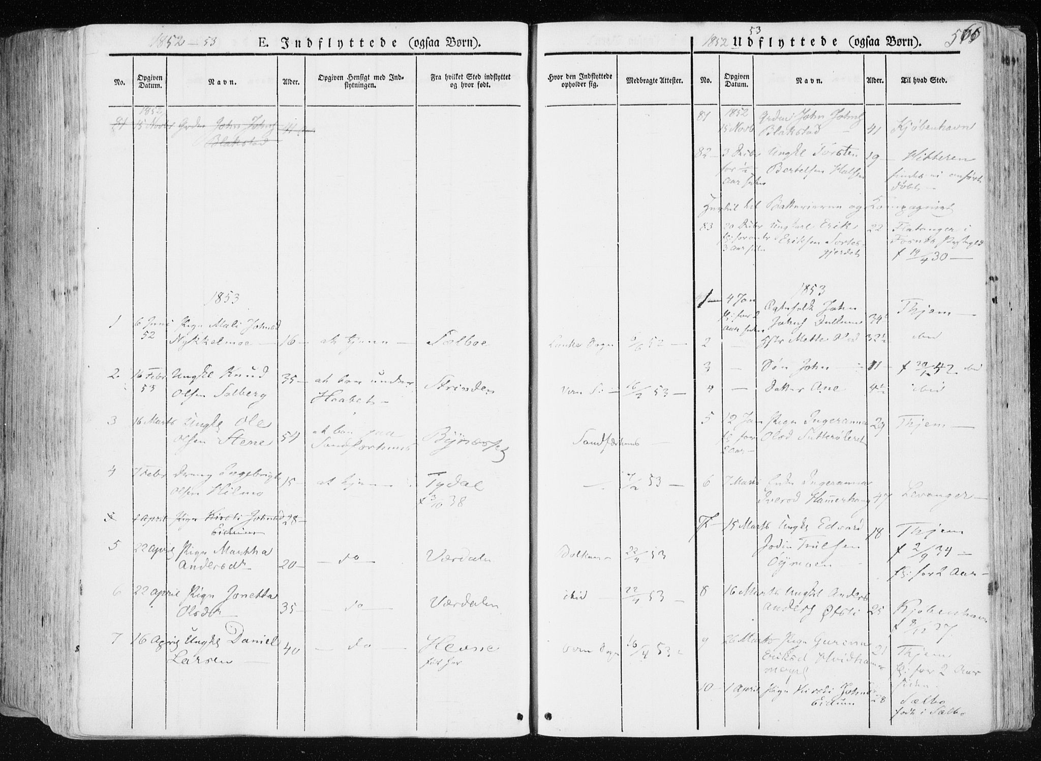 SAT, Ministerialprotokoller, klokkerbøker og fødselsregistre - Nord-Trøndelag, 709/L0074: Ministerialbok nr. 709A14, 1845-1858, s. 566