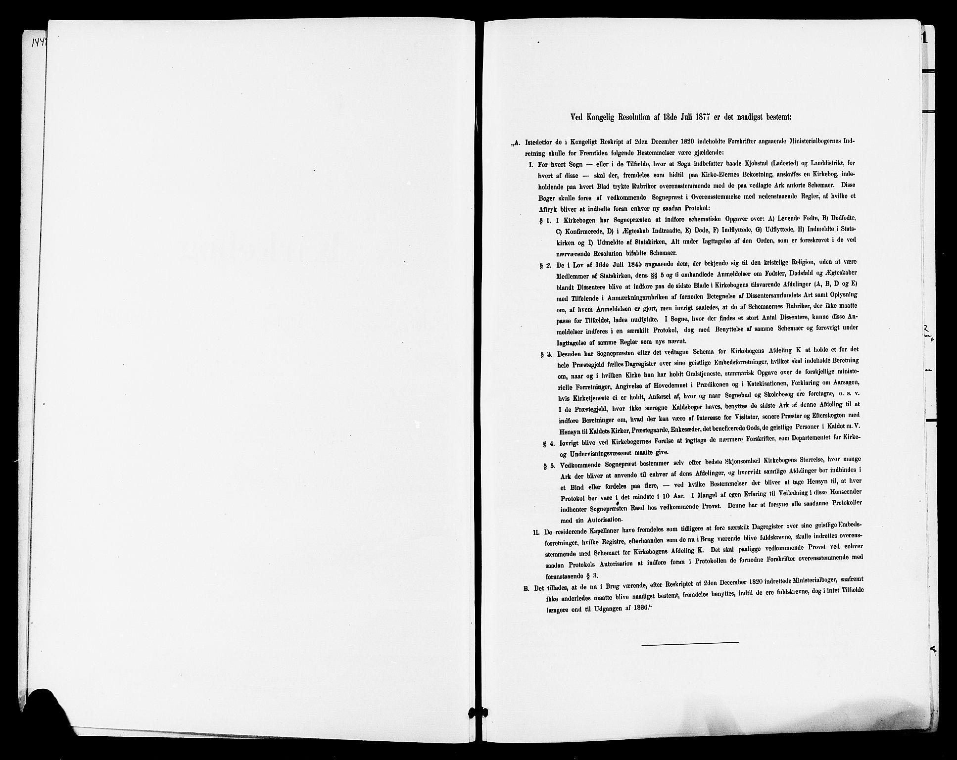 SAKO, Lunde kirkebøker, G/Ga/L0003: Klokkerbok nr. I 3, 1896-1905
