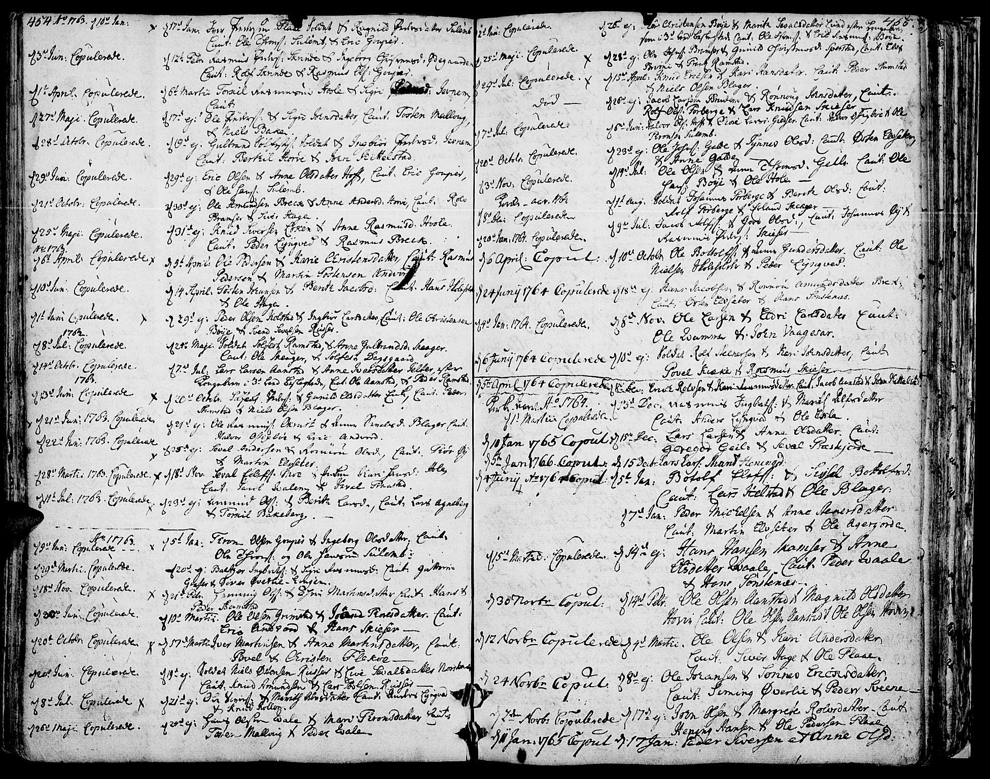SAH, Lom prestekontor, K/L0002: Ministerialbok nr. 2, 1749-1801, s. 454-455