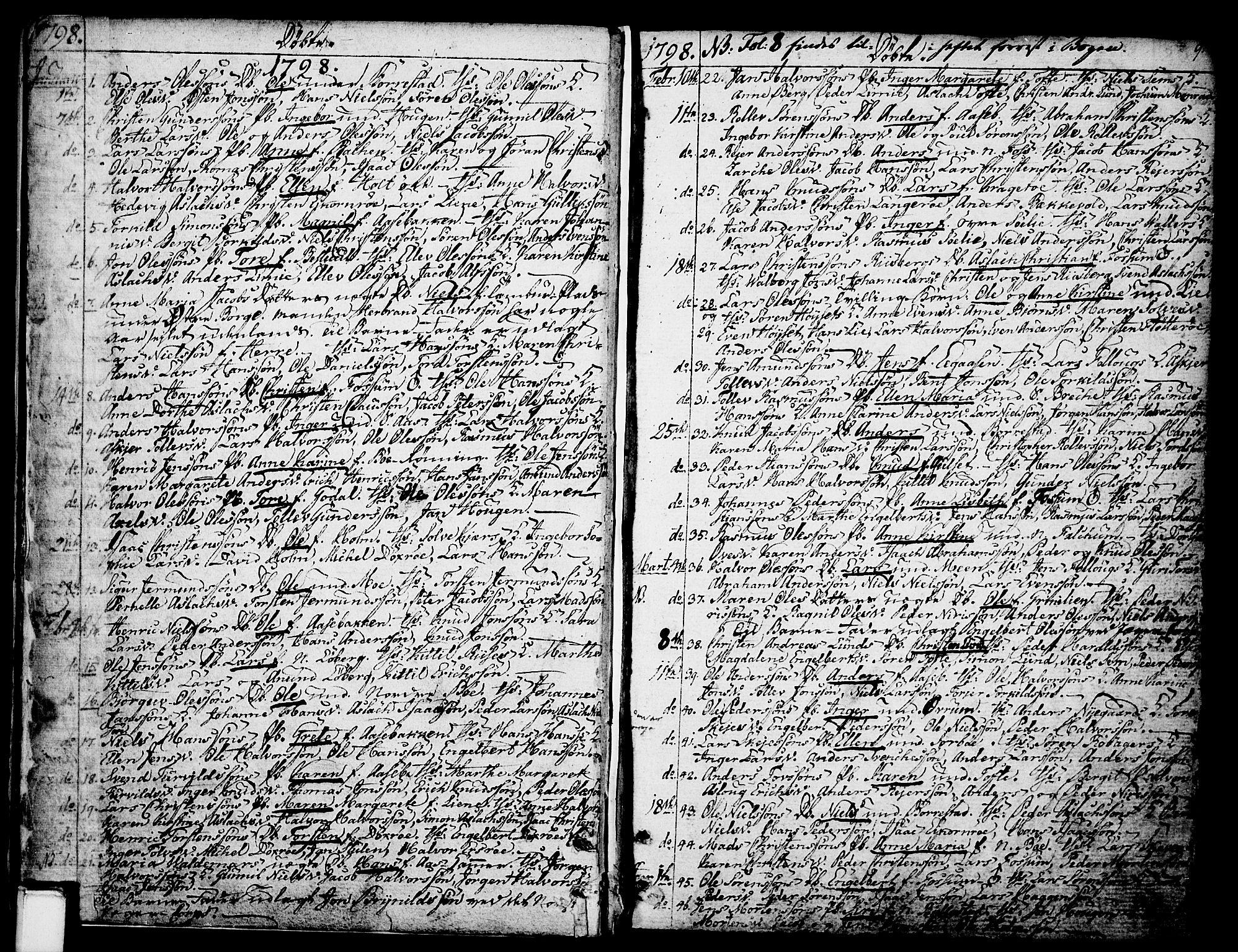 SAKO, Gjerpen kirkebøker, F/Fa/L0003: Ministerialbok nr. 3, 1796-1814, s. 9