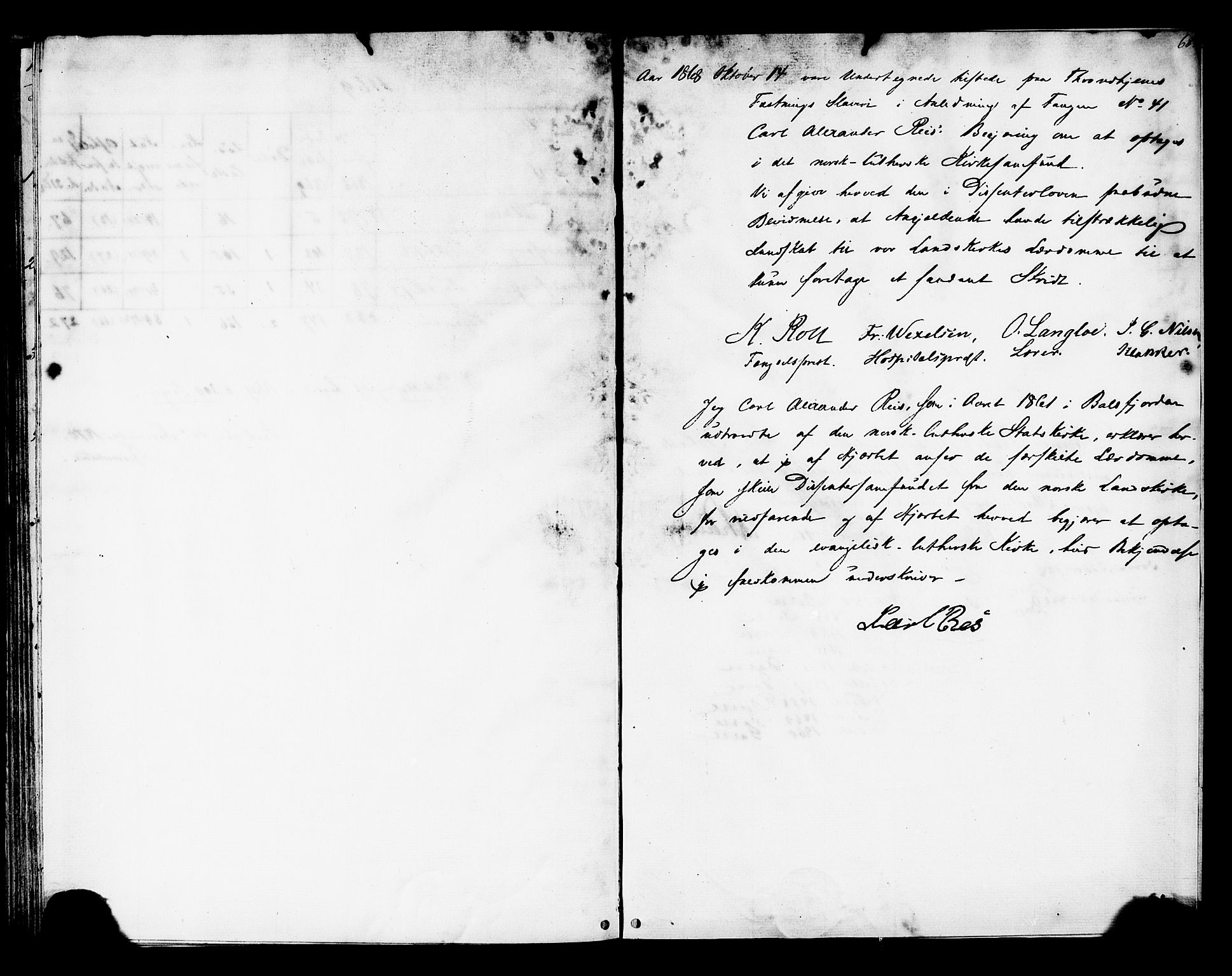 SAT, Ministerialprotokoller, klokkerbøker og fødselsregistre - Sør-Trøndelag, 624/L0481: Ministerialbok nr. 624A02, 1841-1869, s. 68
