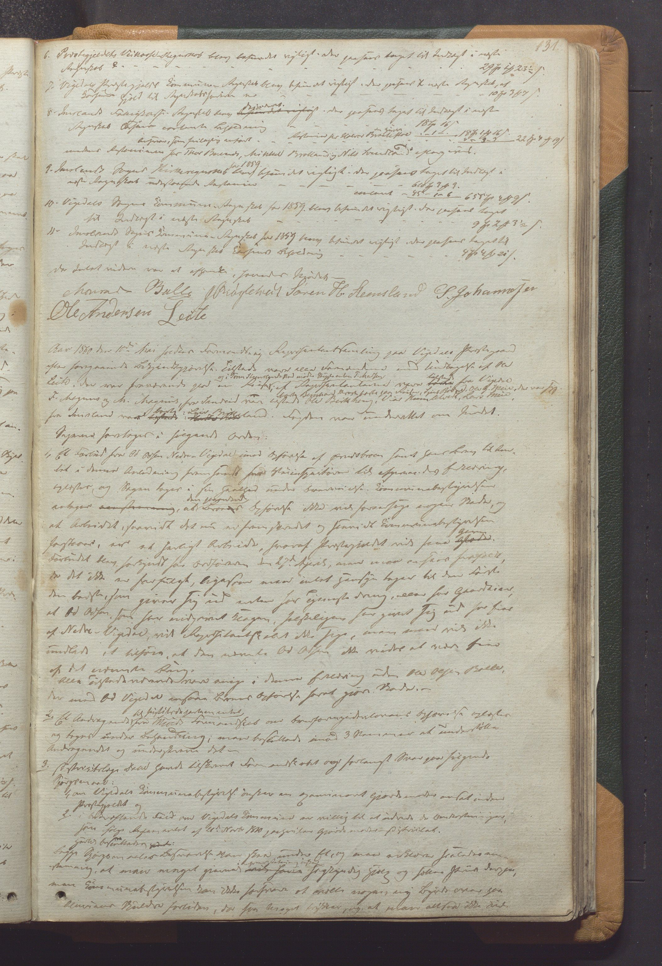 IKAR, Vikedal kommune - Formannskapet, Aaa/L0001: Møtebok, 1837-1874, s. 131a