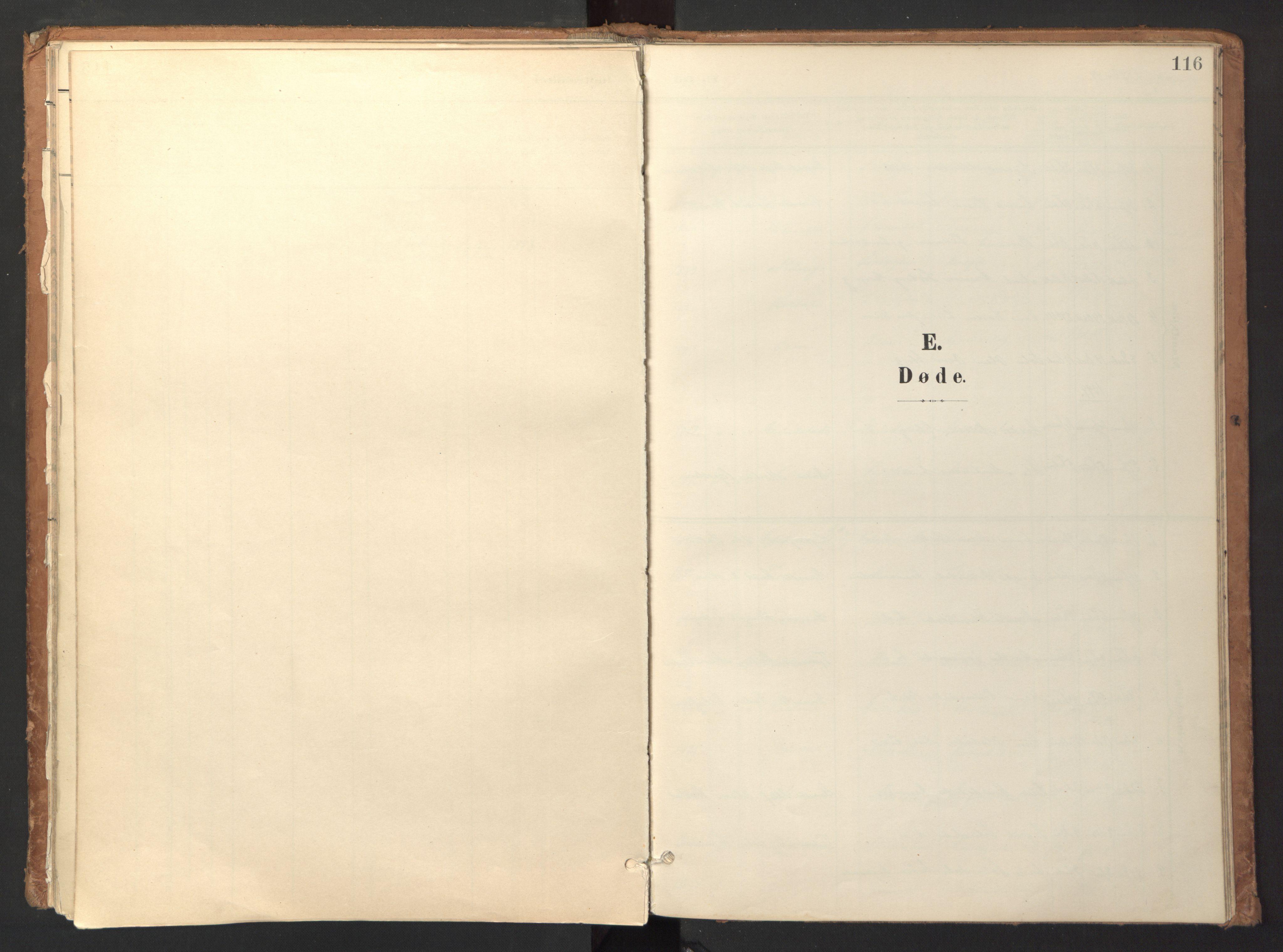 SAT, Ministerialprotokoller, klokkerbøker og fødselsregistre - Sør-Trøndelag, 618/L0448: Ministerialbok nr. 618A11, 1898-1916, s. 116