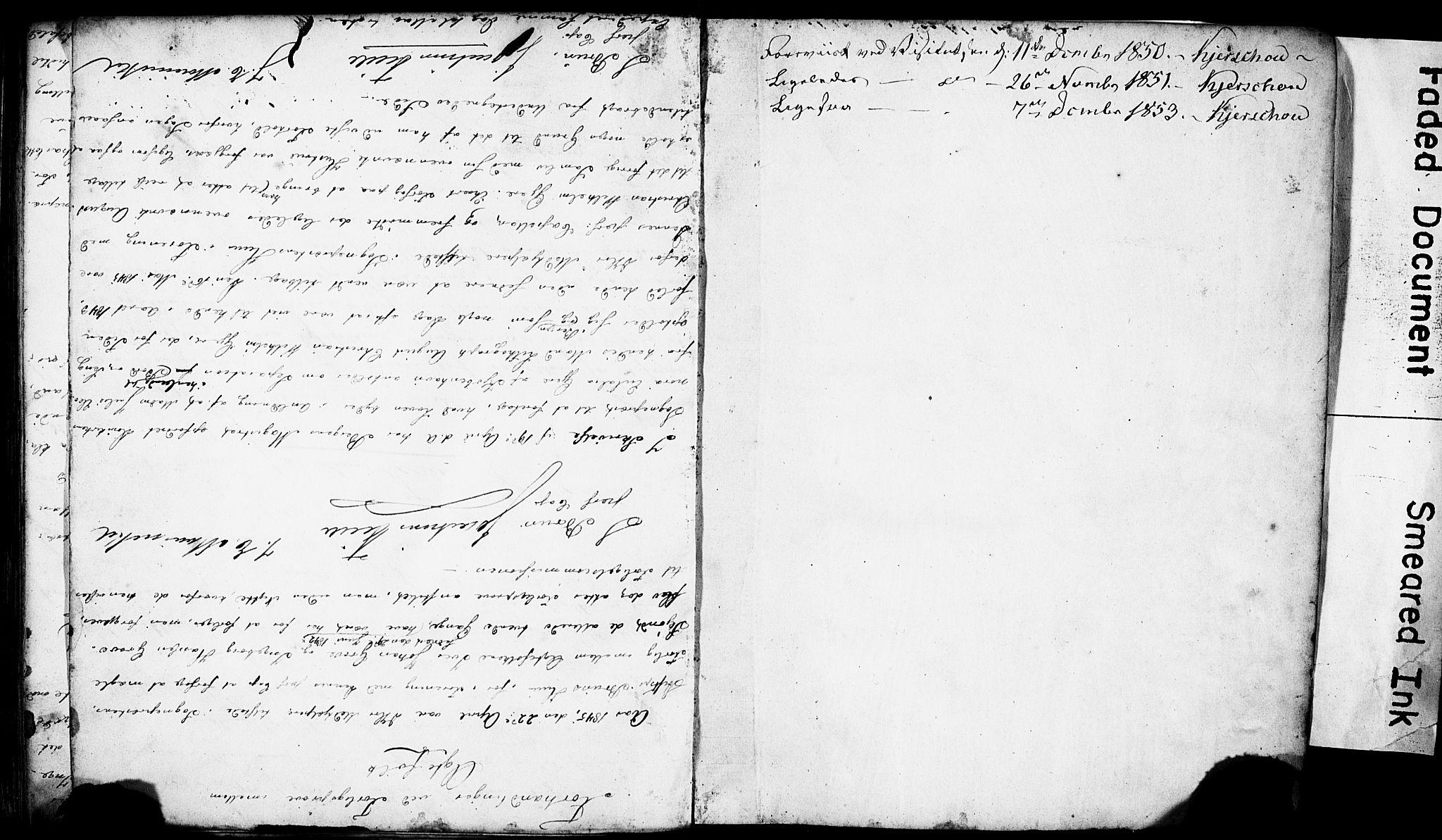 SAB, Domkirken Sokneprestembete, Forlovererklæringer nr. II.5.4, 1845-1852