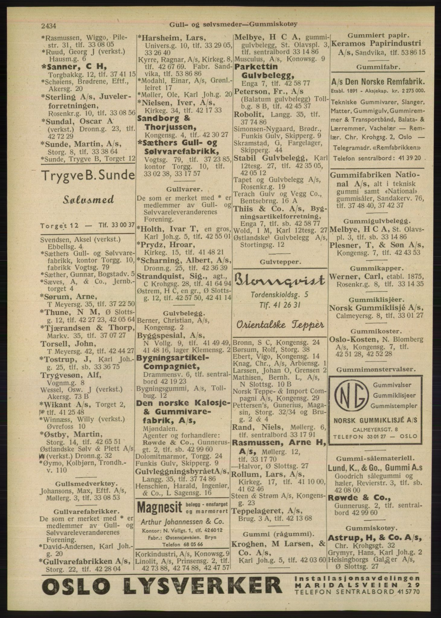 PUBL, Kristiania/Oslo adressebok, 1948, s. 2434