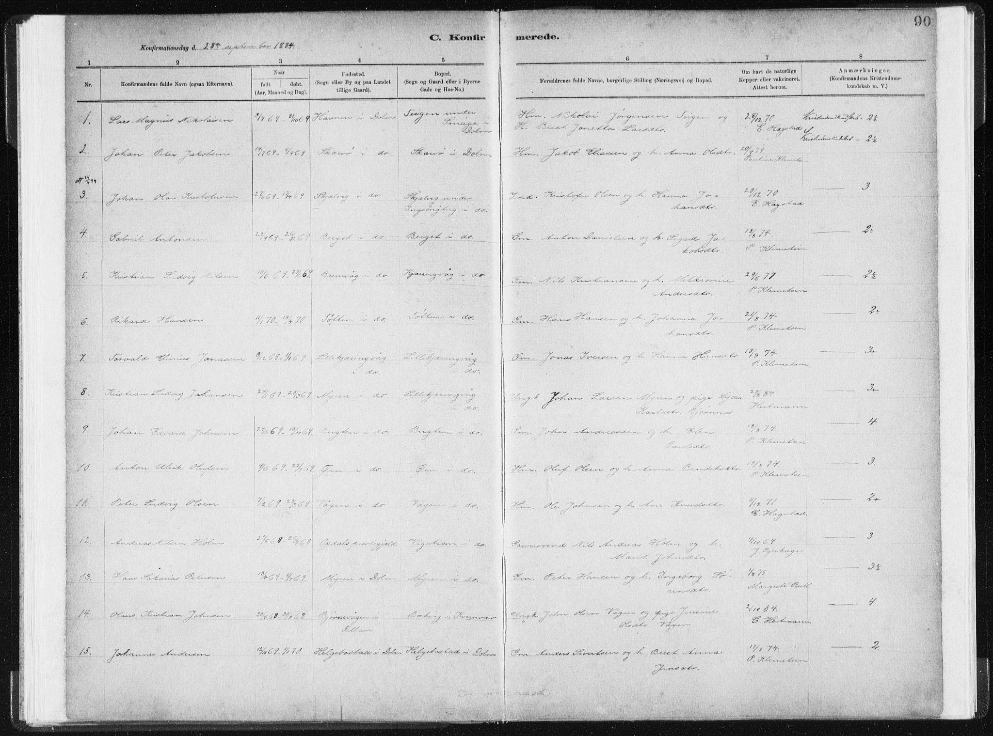 SAT, Ministerialprotokoller, klokkerbøker og fødselsregistre - Sør-Trøndelag, 634/L0533: Ministerialbok nr. 634A09, 1882-1901, s. 90