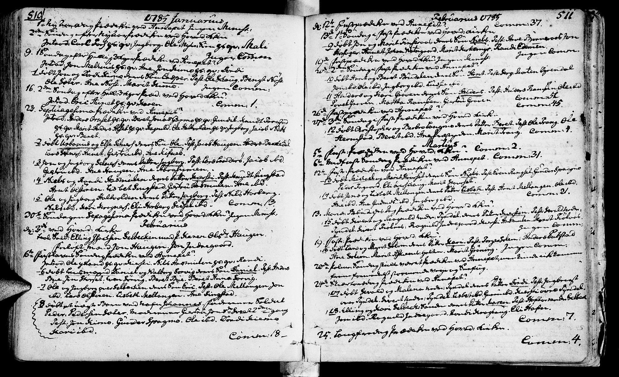 SAT, Ministerialprotokoller, klokkerbøker og fødselsregistre - Sør-Trøndelag, 646/L0605: Ministerialbok nr. 646A03, 1751-1790, s. 510-511