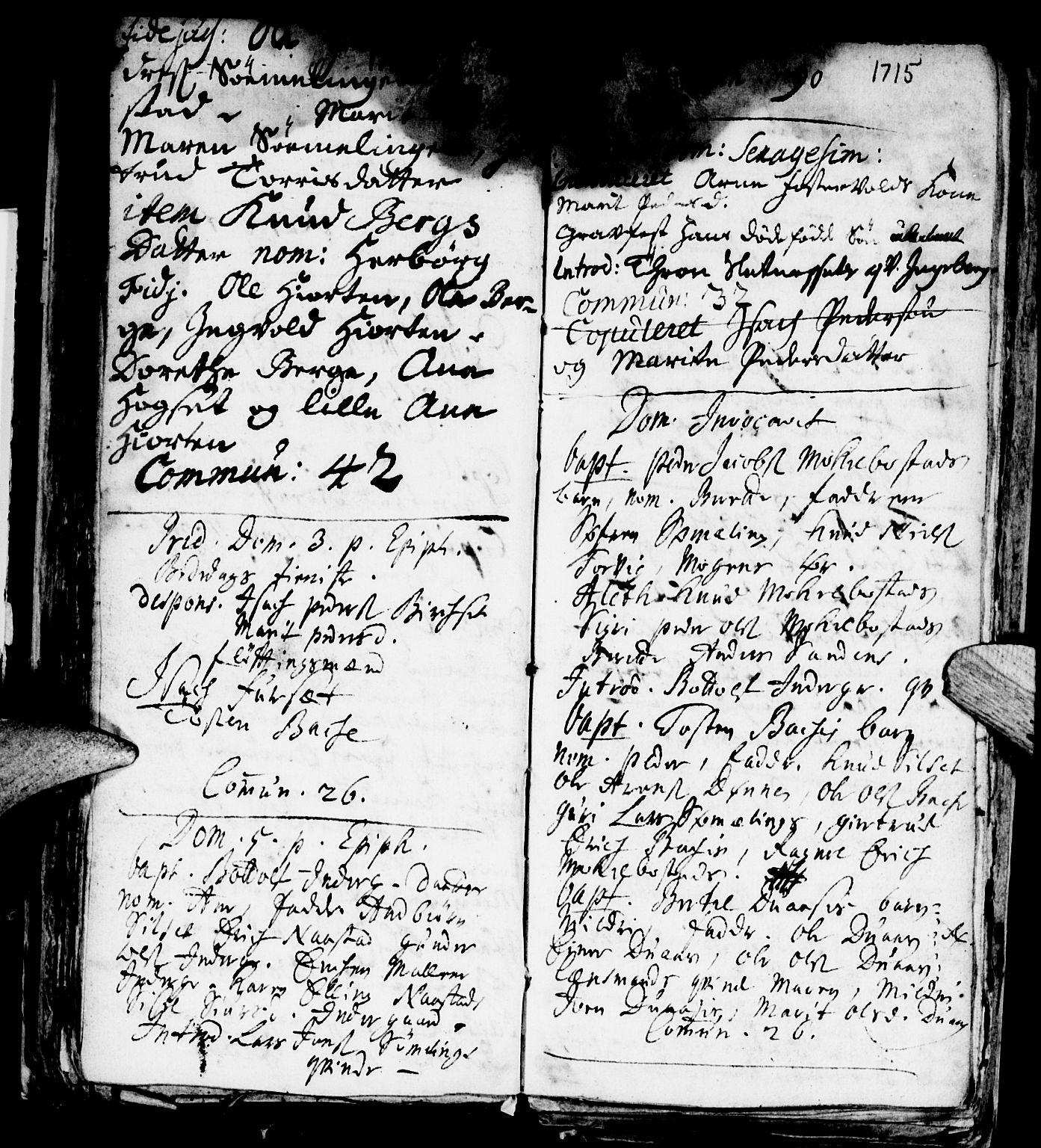 SAT, Ministerialprotokoller, klokkerbøker og fødselsregistre - Møre og Romsdal, 584/L0963: Ministerialbok nr. 584A03, 1702-1725