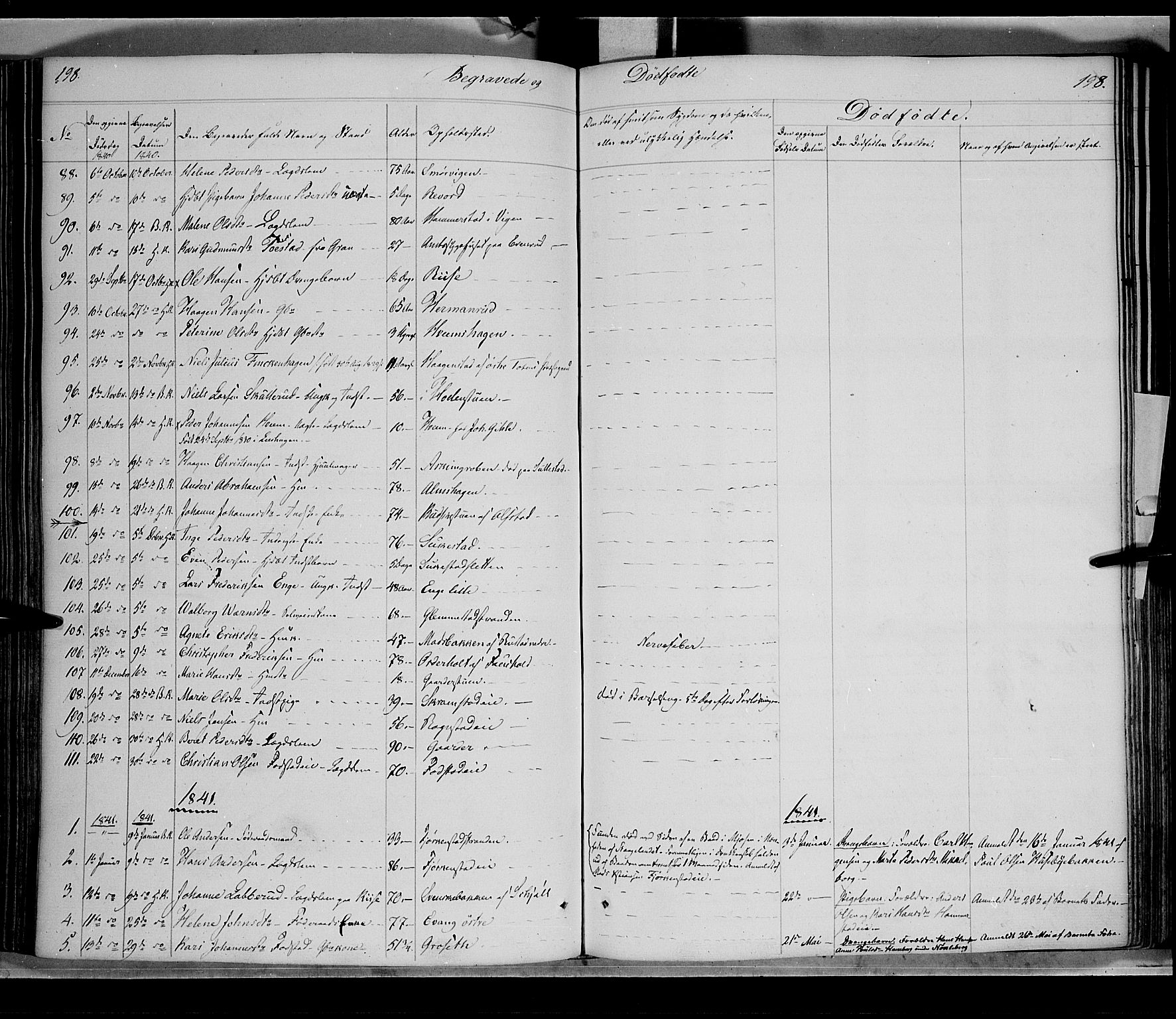 SAH, Østre Toten prestekontor, Ministerialbok nr. 2, 1840-1847, s. 198