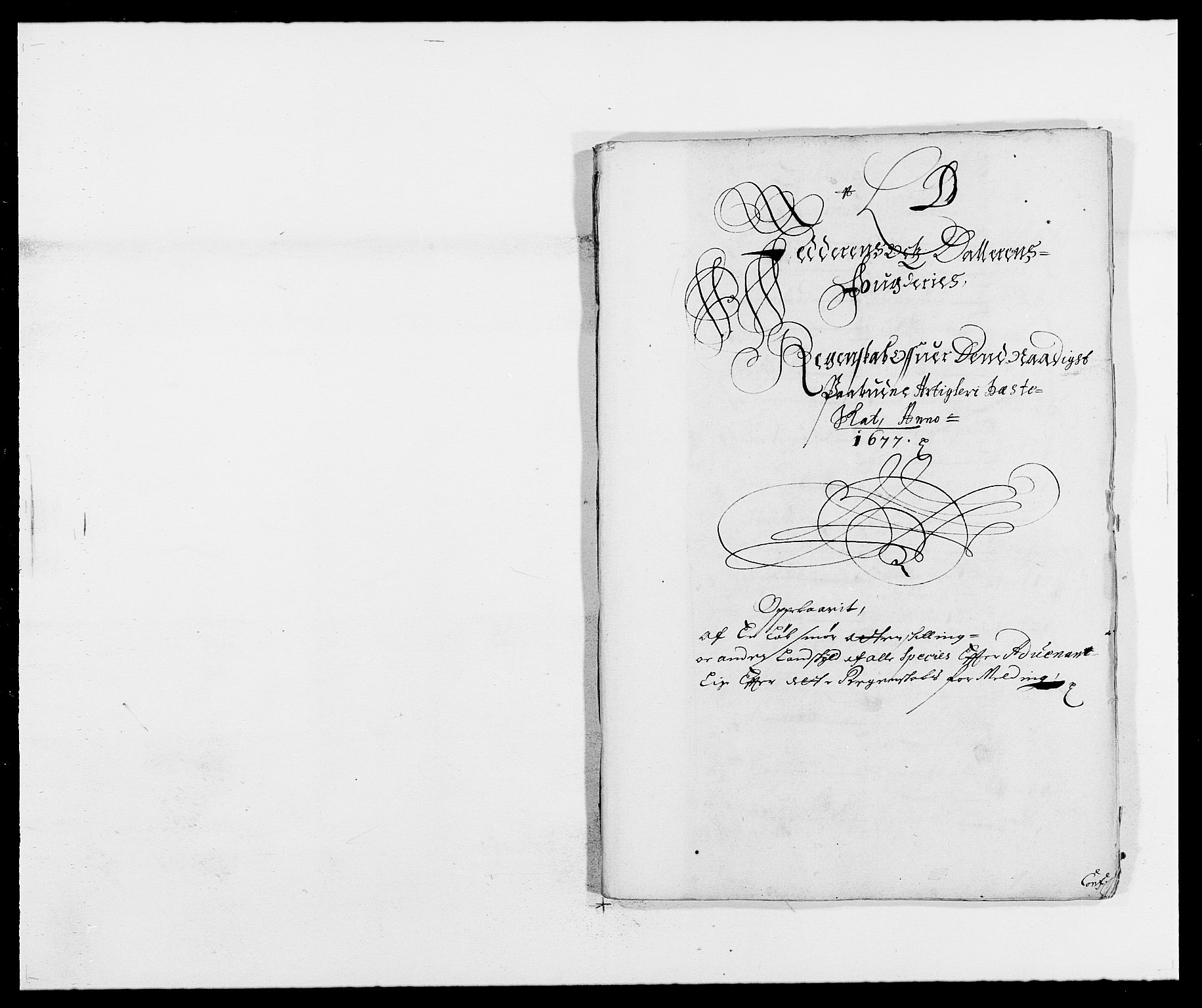 RA, Rentekammeret inntil 1814, Reviderte regnskaper, Fogderegnskap, R46/L2717: Fogderegnskap Jæren og Dalane, 1677, s. 105