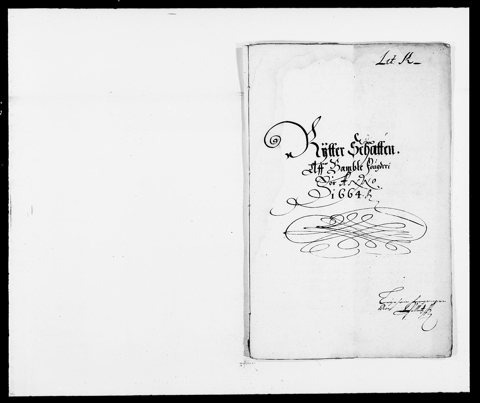 RA, Rentekammeret inntil 1814, Reviderte regnskaper, Fogderegnskap, R34/L2038: Fogderegnskap Bamble, 1662-1669, s. 54