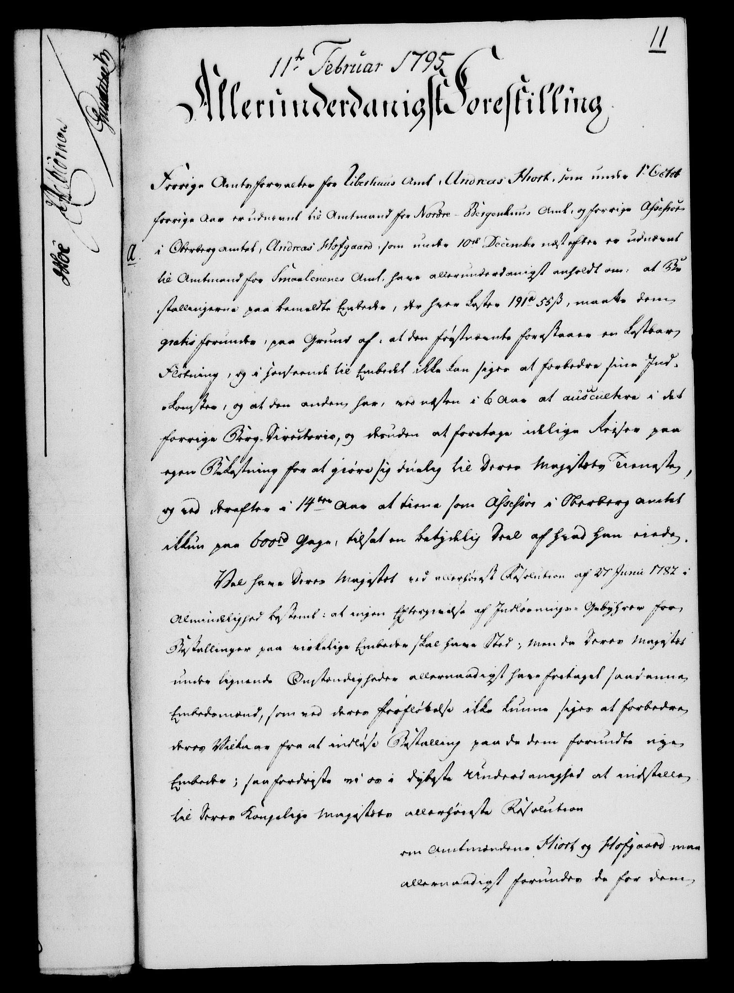 RA, Rentekammeret, Kammerkanselliet, G/Gf/Gfa/L0077: Norsk relasjons- og resolusjonsprotokoll (merket RK 52.77), 1795, s. 91