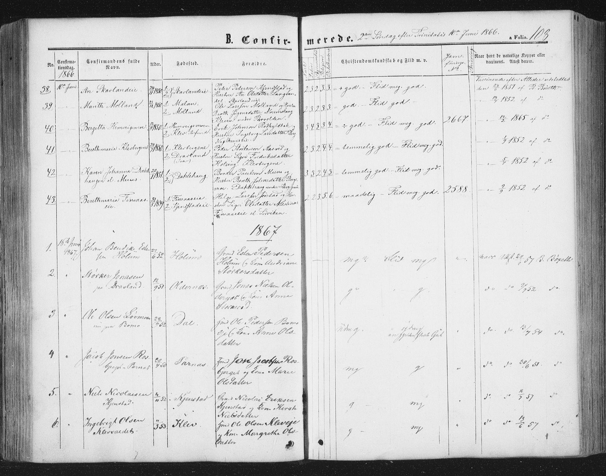 SAT, Ministerialprotokoller, klokkerbøker og fødselsregistre - Nord-Trøndelag, 749/L0472: Ministerialbok nr. 749A06, 1857-1873, s. 108