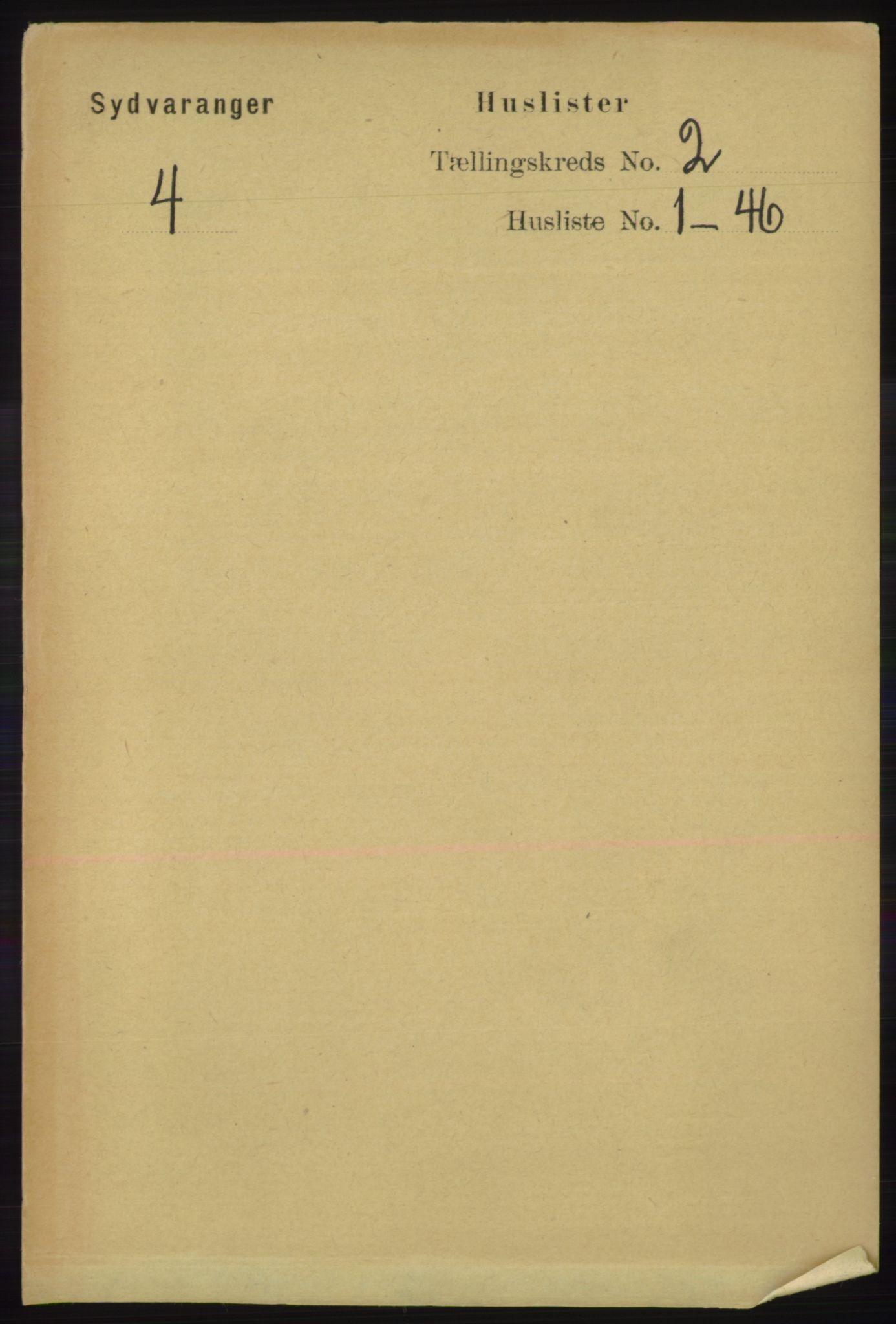 RA, Folketelling 1891 for 2030 Sør-Varanger herred, 1891, s. 353
