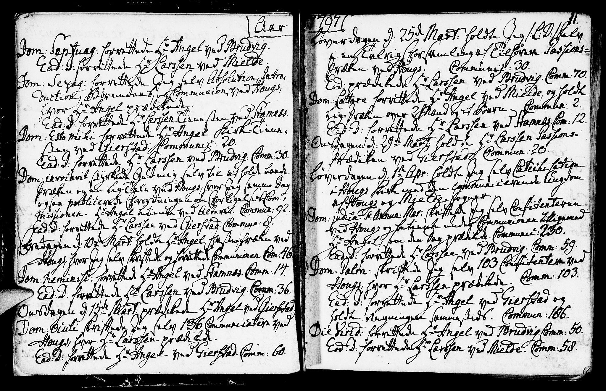 SAB, Haus sokneprestembete, H/Haa: Ministerialbok nr. A 11, 1796-1816, s. 11