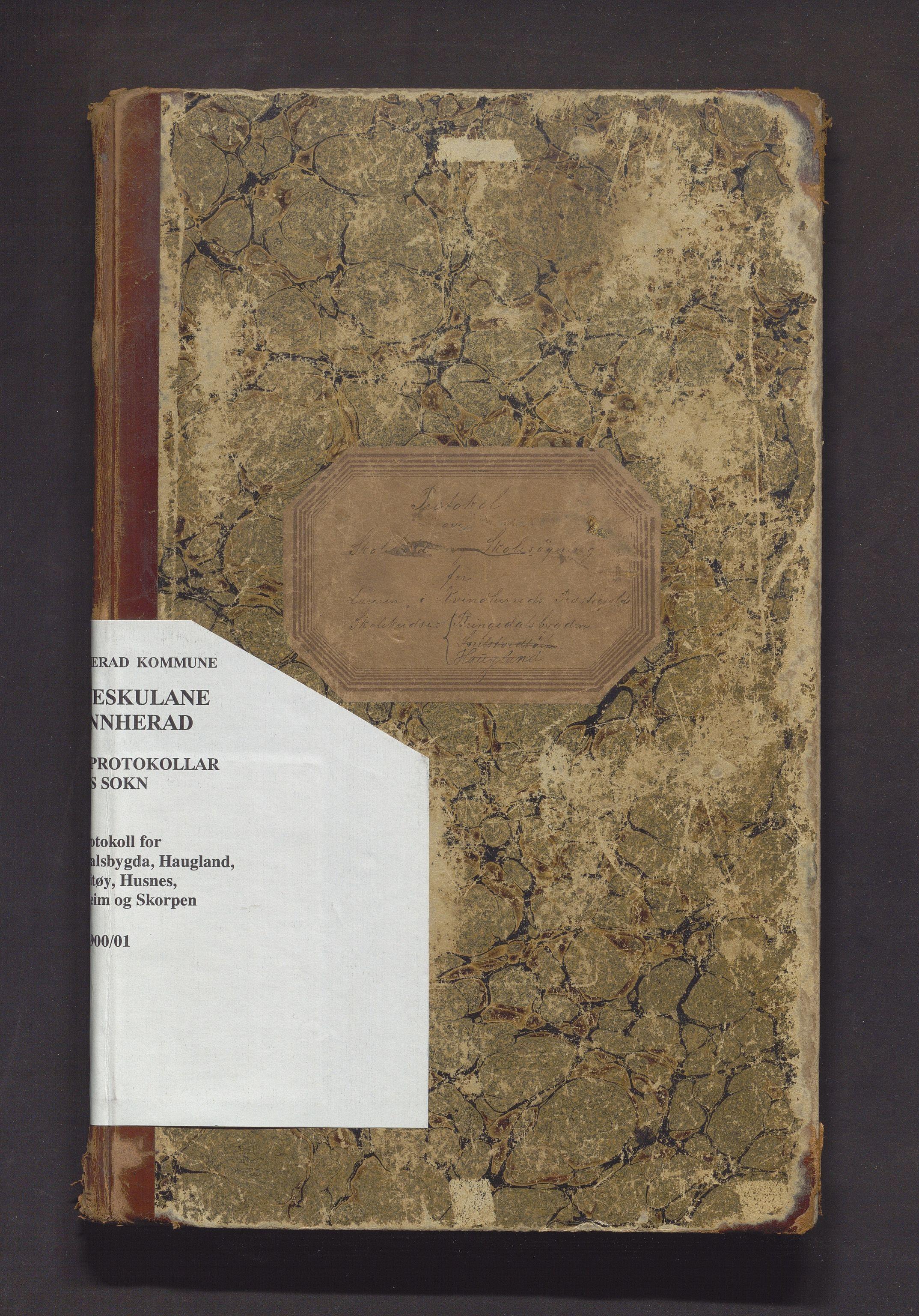 IKAH, Kvinnherad kommune. Barneskulane, F/Ff/L0007: Skuleprotokoll for Bringedalsbygda, Haugland, Snilstveitøy, Husnes, Undarheim og Skorpen krinsar , 1885-1901