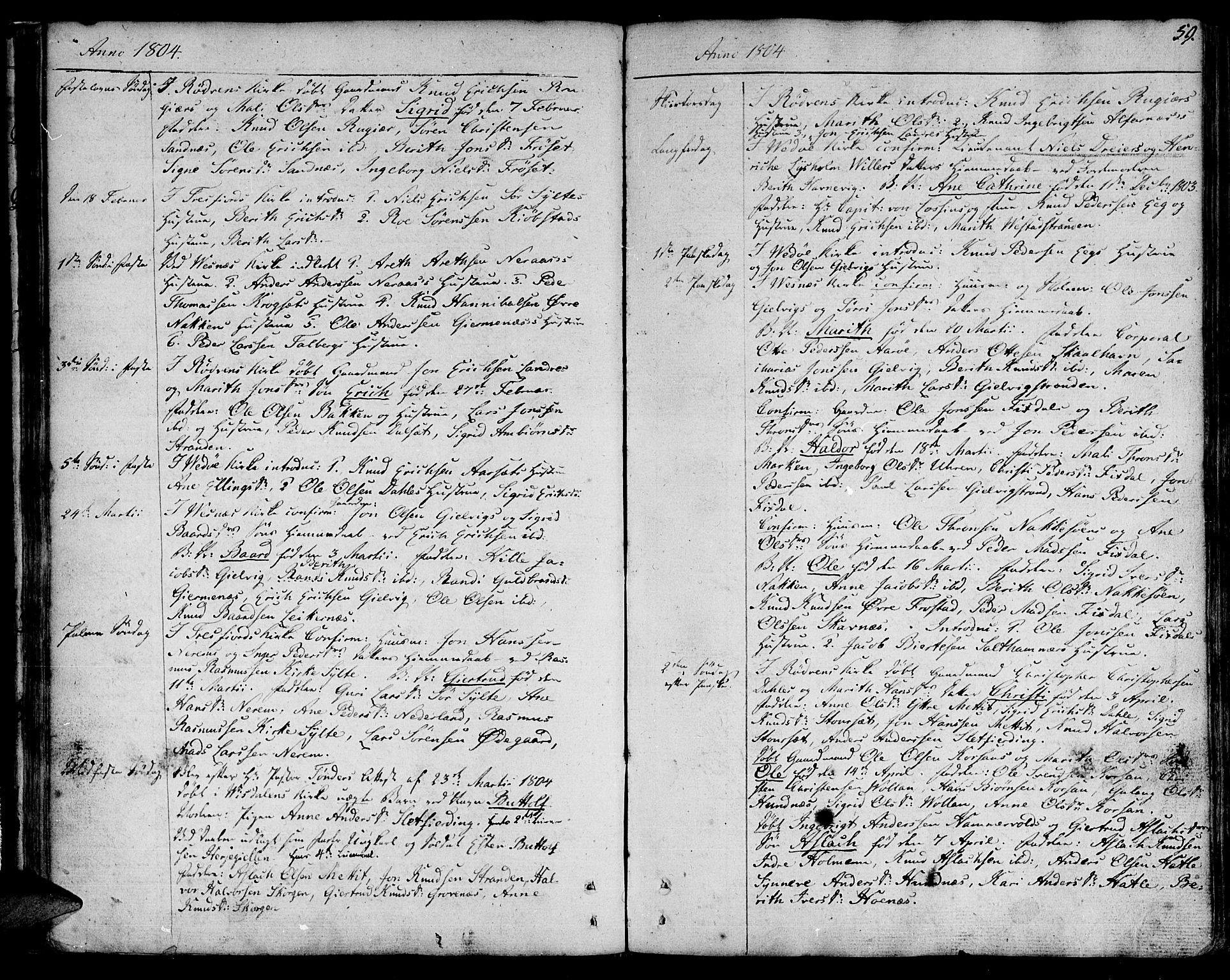 SAT, Ministerialprotokoller, klokkerbøker og fødselsregistre - Møre og Romsdal, 547/L0601: Ministerialbok nr. 547A03, 1799-1818, s. 59