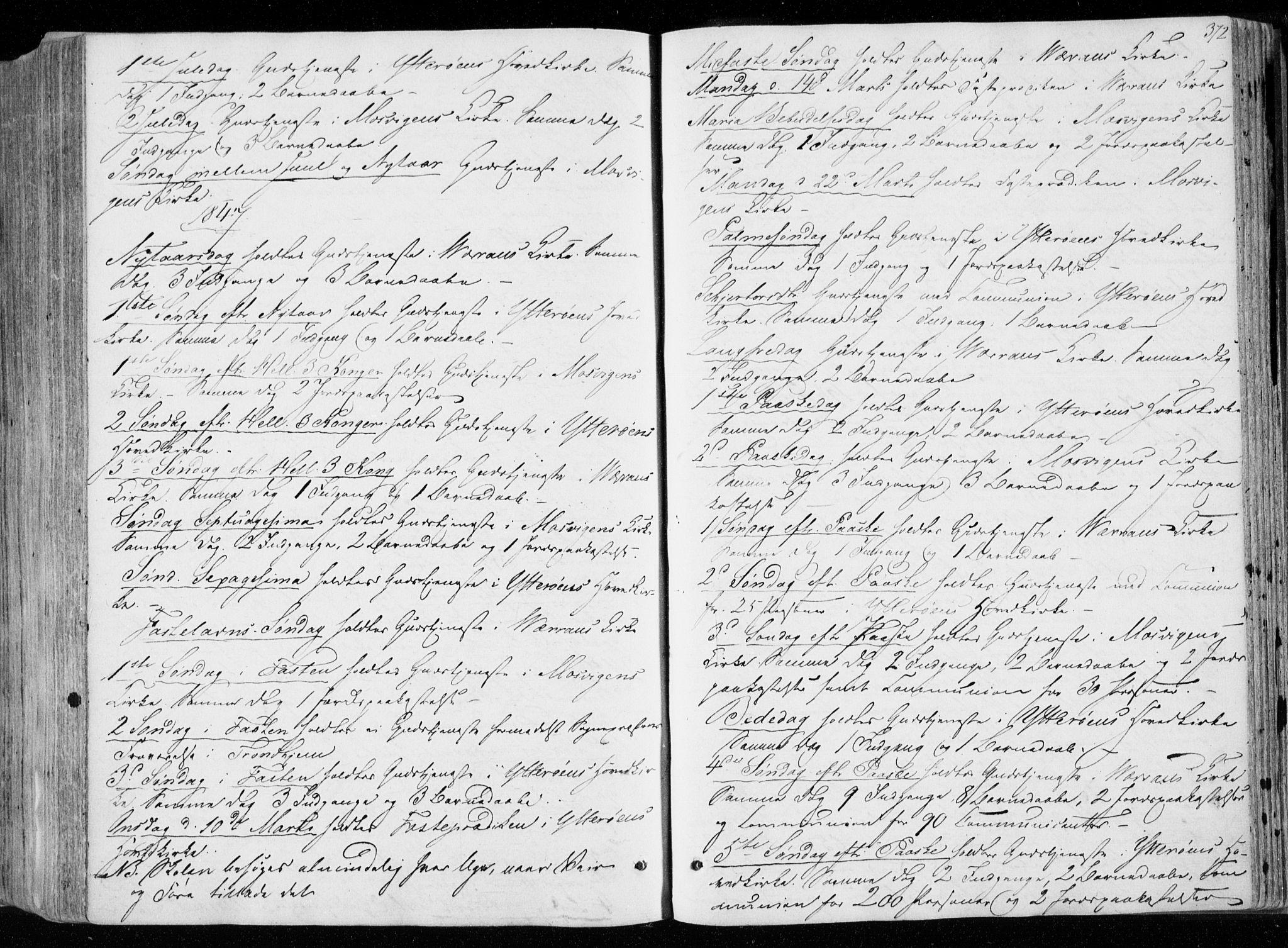 SAT, Ministerialprotokoller, klokkerbøker og fødselsregistre - Nord-Trøndelag, 722/L0218: Ministerialbok nr. 722A05, 1843-1868, s. 372