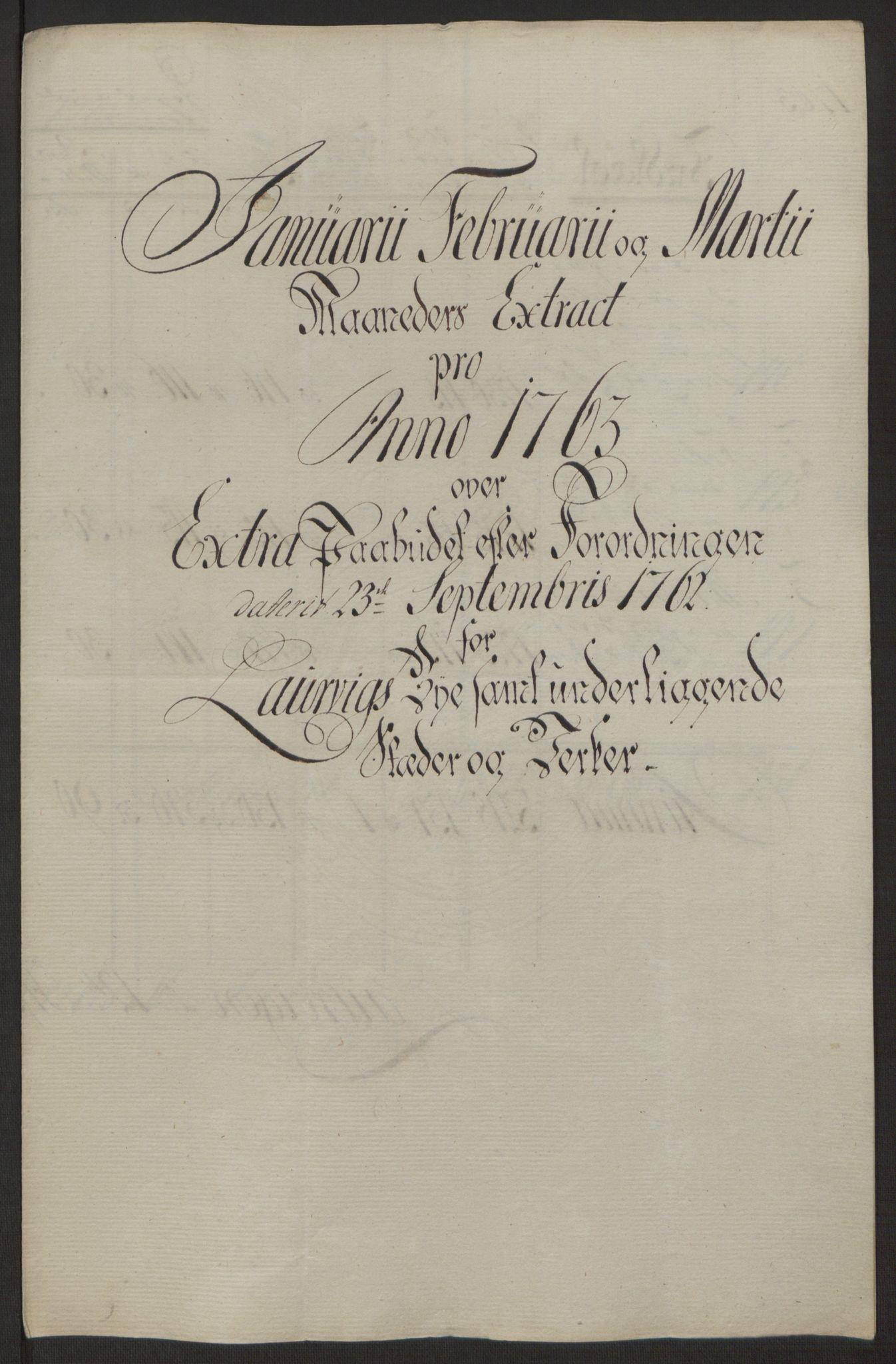 RA, Rentekammeret inntil 1814, Reviderte regnskaper, Byregnskaper, R/Ri/L0183: [I4] Kontribusjonsregnskap, 1762-1768, s. 133