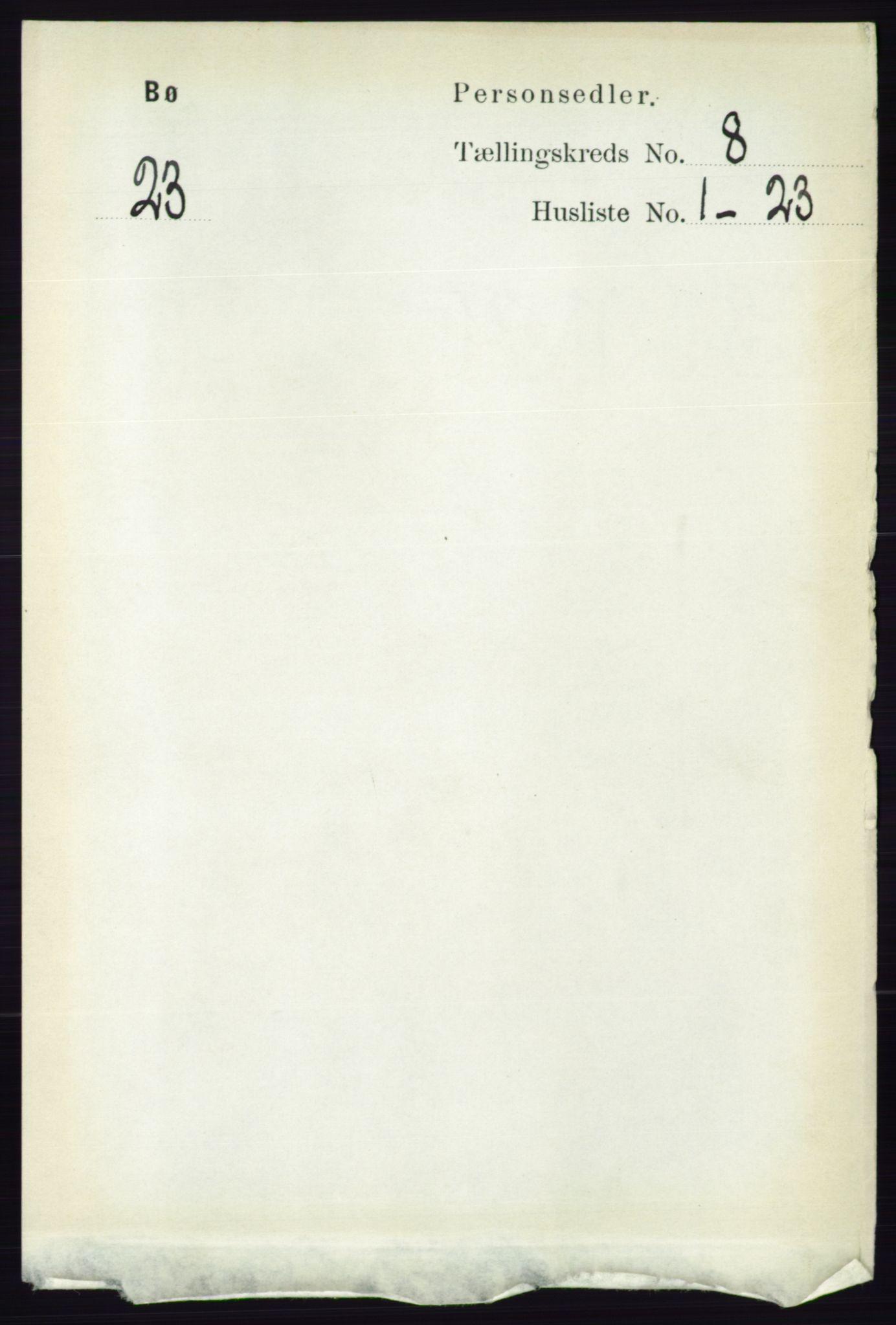 RA, Folketelling 1891 for 0821 Bø herred, 1891, s. 2558