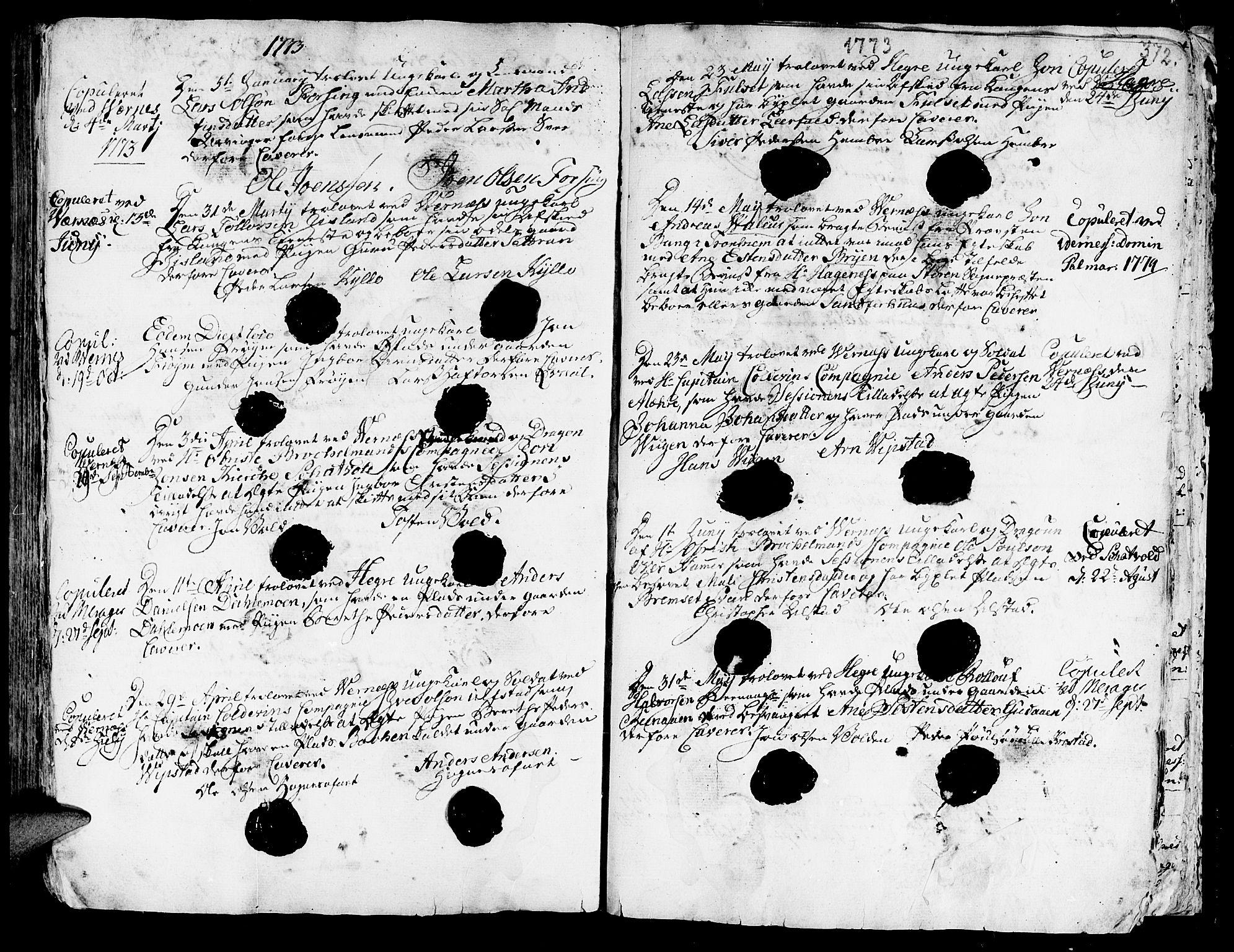 SAT, Ministerialprotokoller, klokkerbøker og fødselsregistre - Nord-Trøndelag, 709/L0057: Ministerialbok nr. 709A05, 1755-1780, s. 372