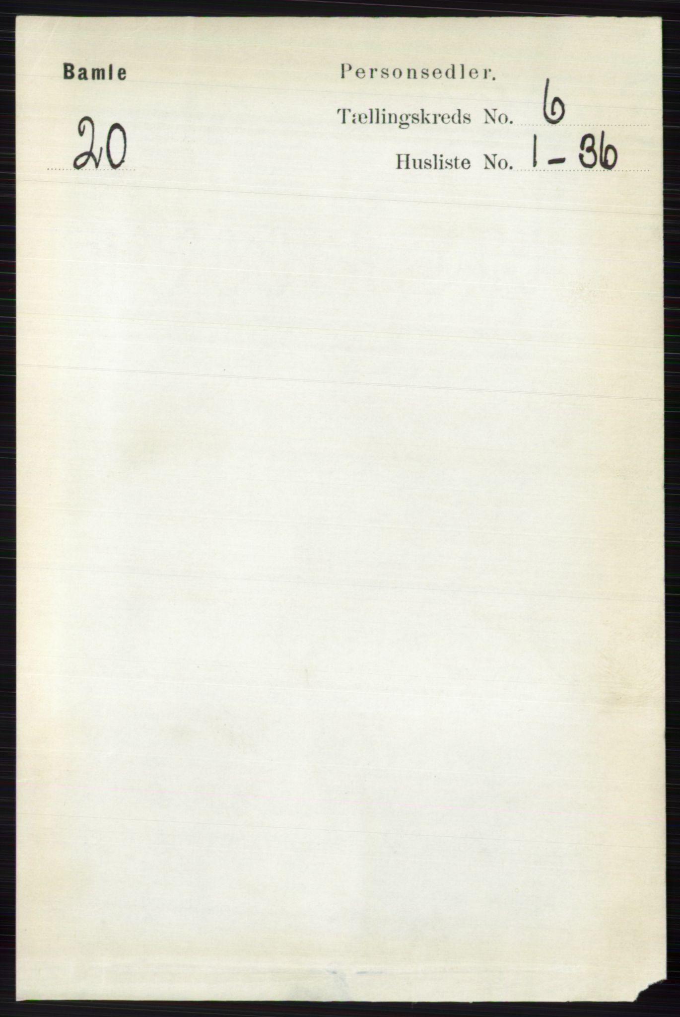 RA, Folketelling 1891 for 0814 Bamble herred, 1891, s. 2693