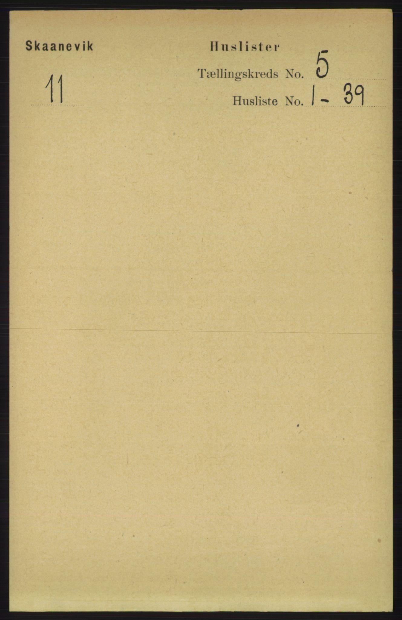 RA, Folketelling 1891 for 1212 Skånevik herred, 1891, s. 1220