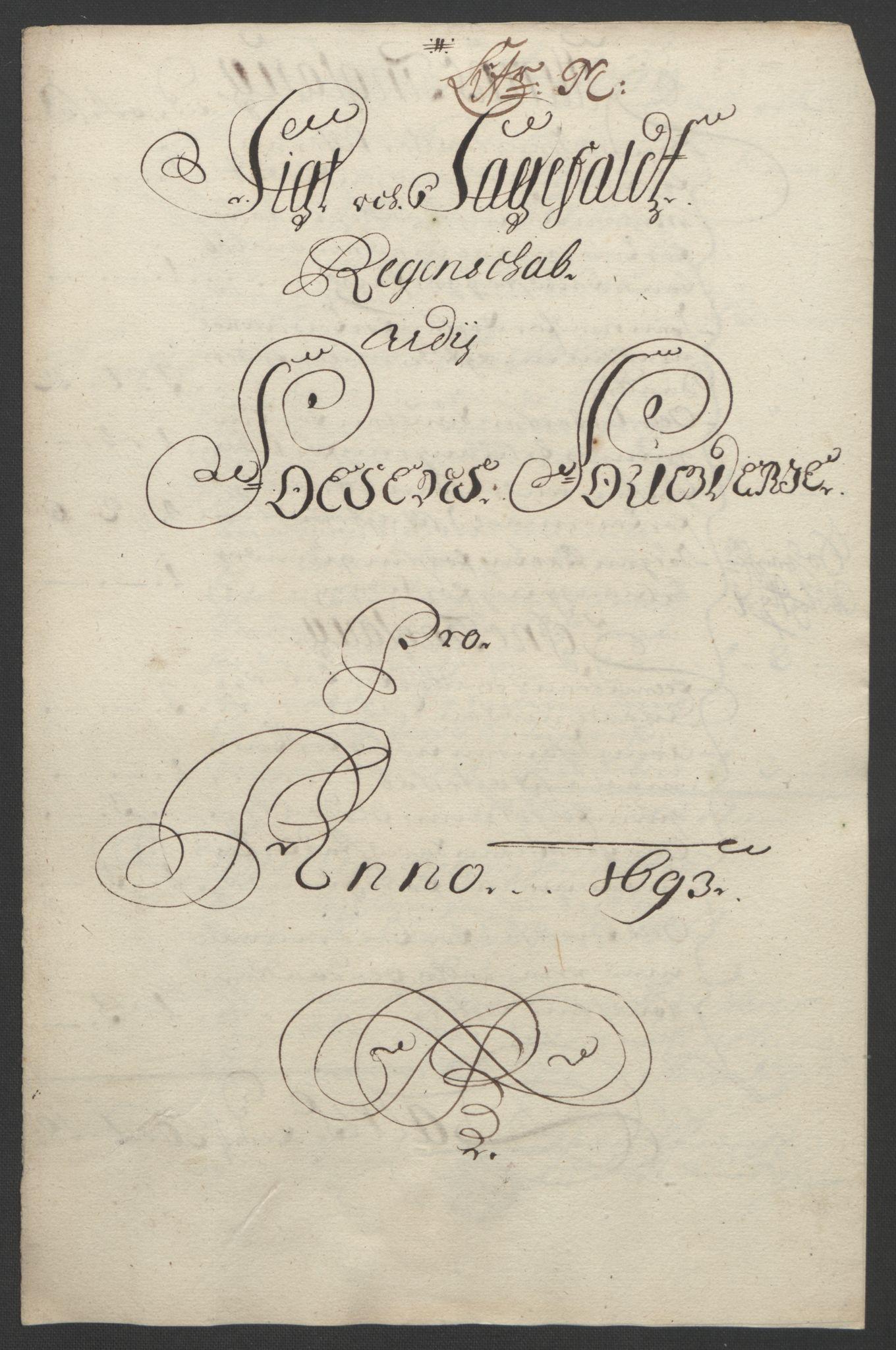 RA, Rentekammeret inntil 1814, Reviderte regnskaper, Fogderegnskap, R57/L3849: Fogderegnskap Fosen, 1692-1693, s. 554