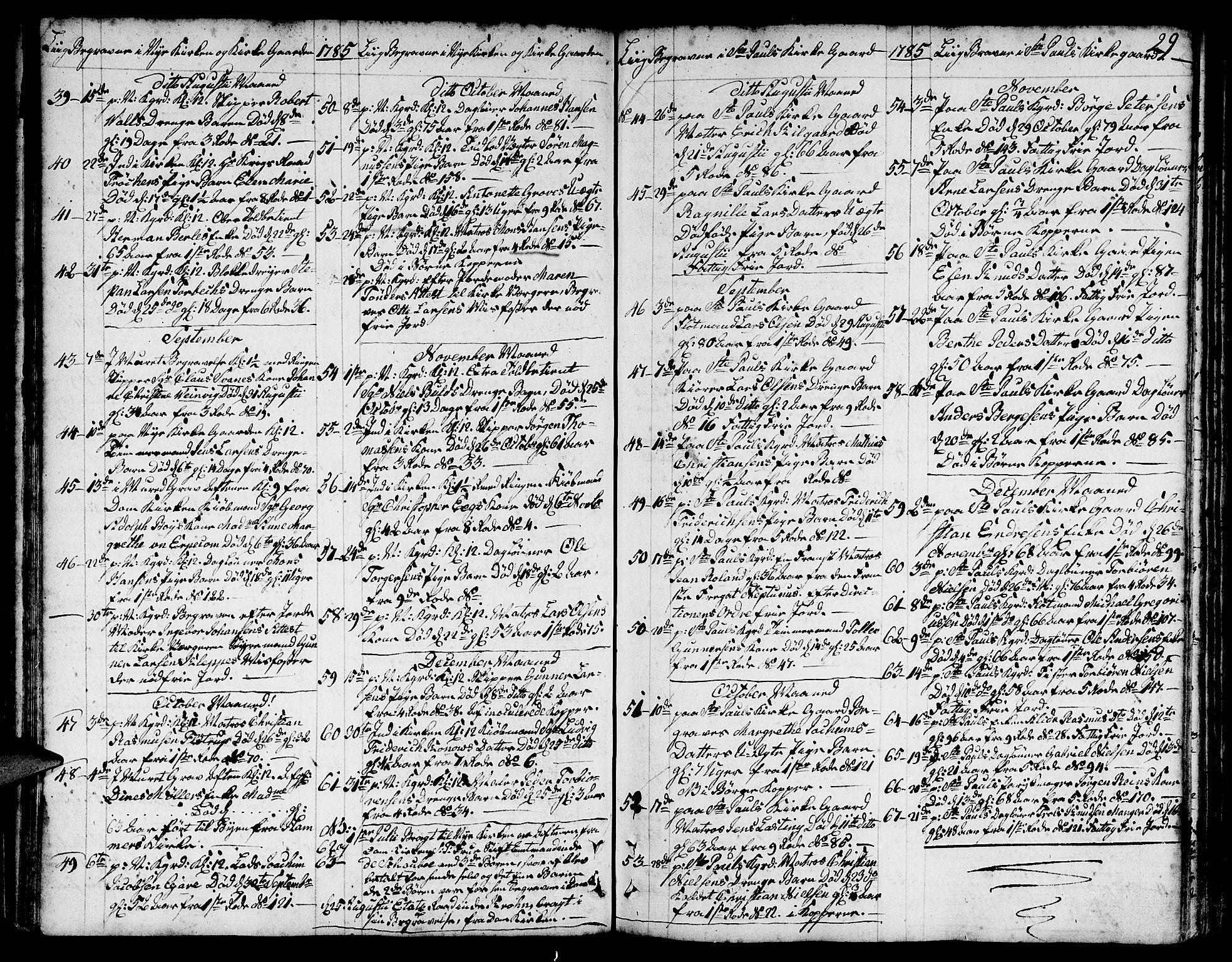 SAB, Nykirken Sokneprestembete, H/Hab: Klokkerbok nr. A 3, 1775-1820, s. 29