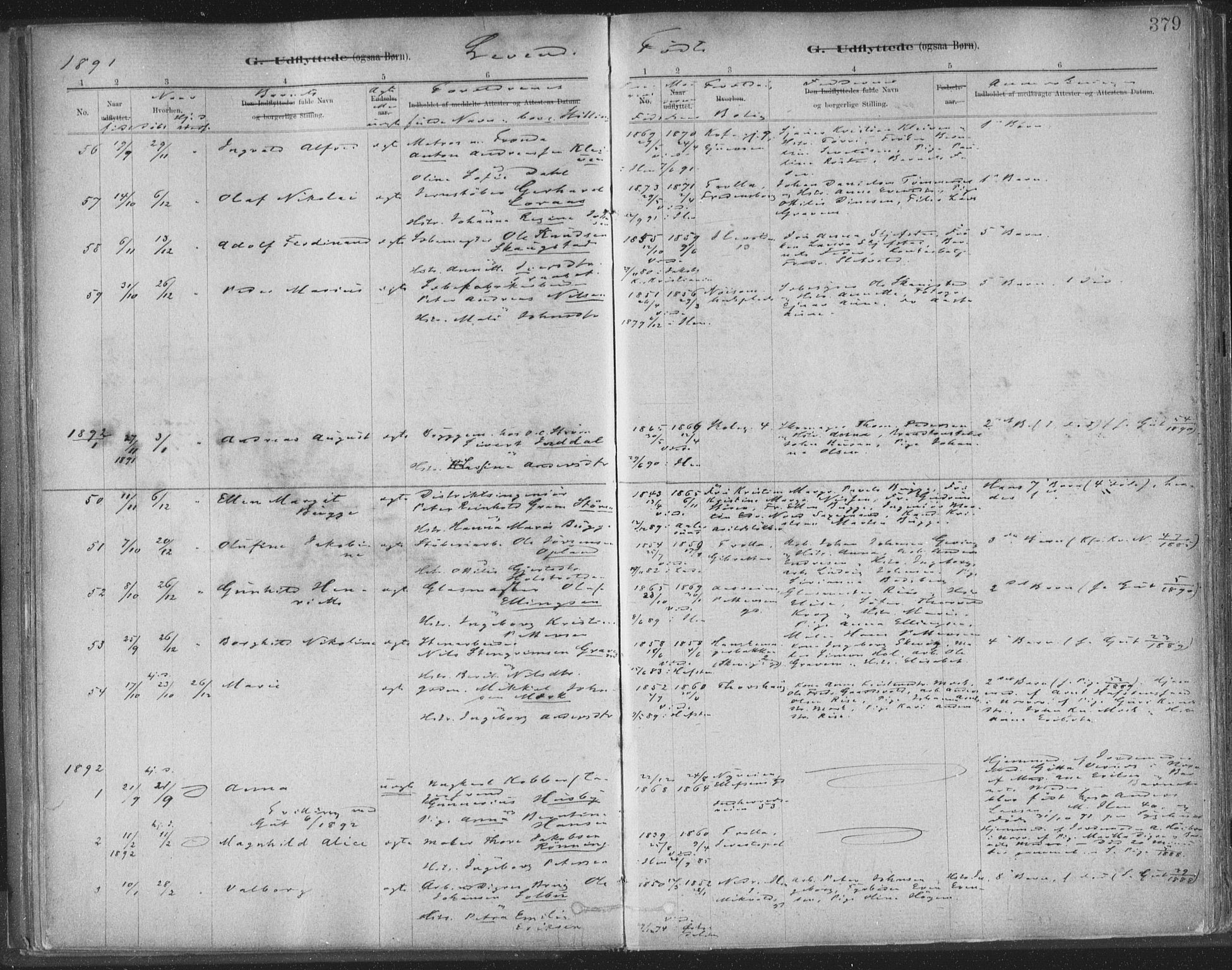 SAT, Ministerialprotokoller, klokkerbøker og fødselsregistre - Sør-Trøndelag, 603/L0163: Ministerialbok nr. 603A02, 1879-1895, s. 379