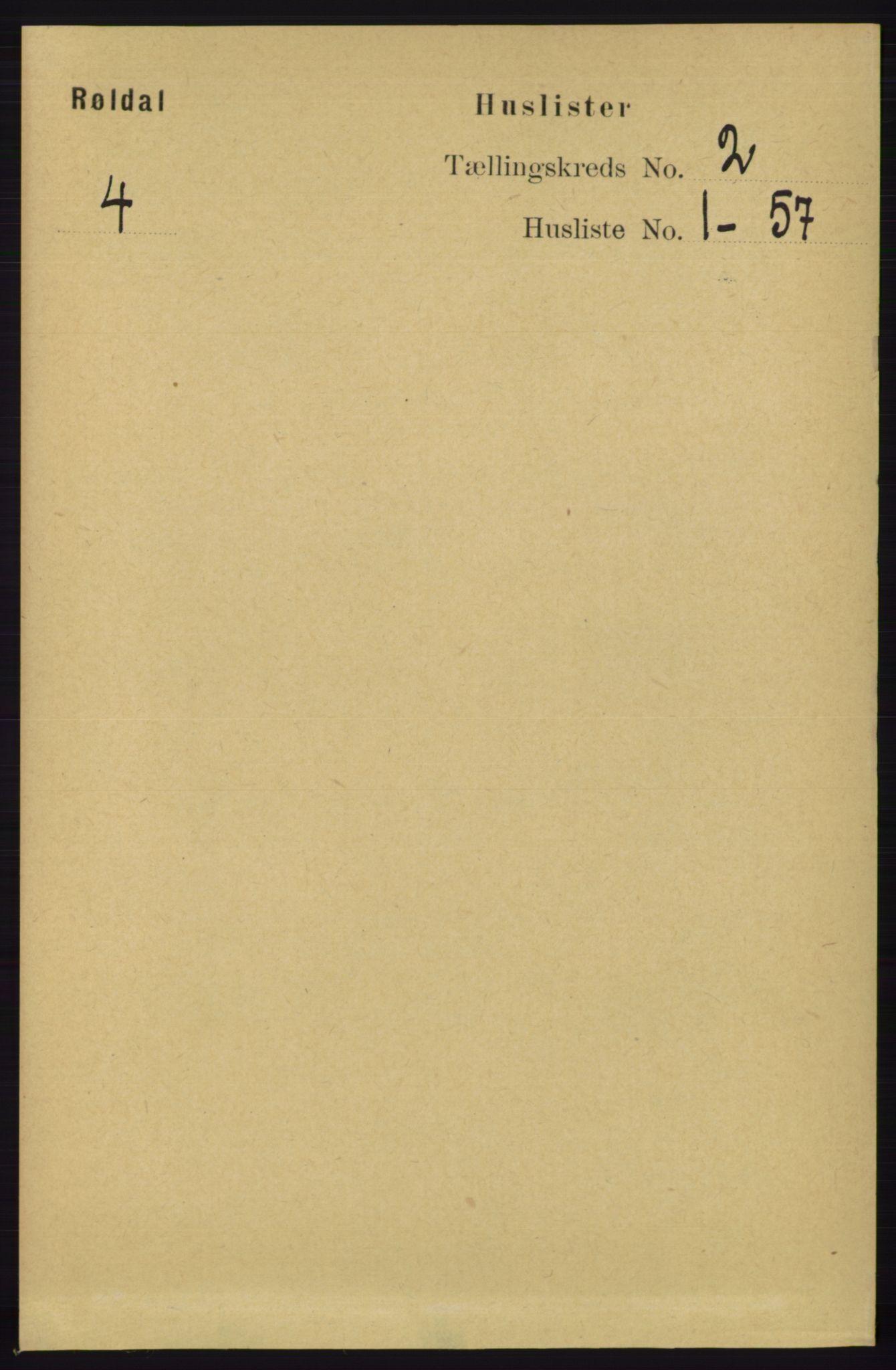 RA, Folketelling 1891 for 1229 Røldal herred, 1891, s. 471