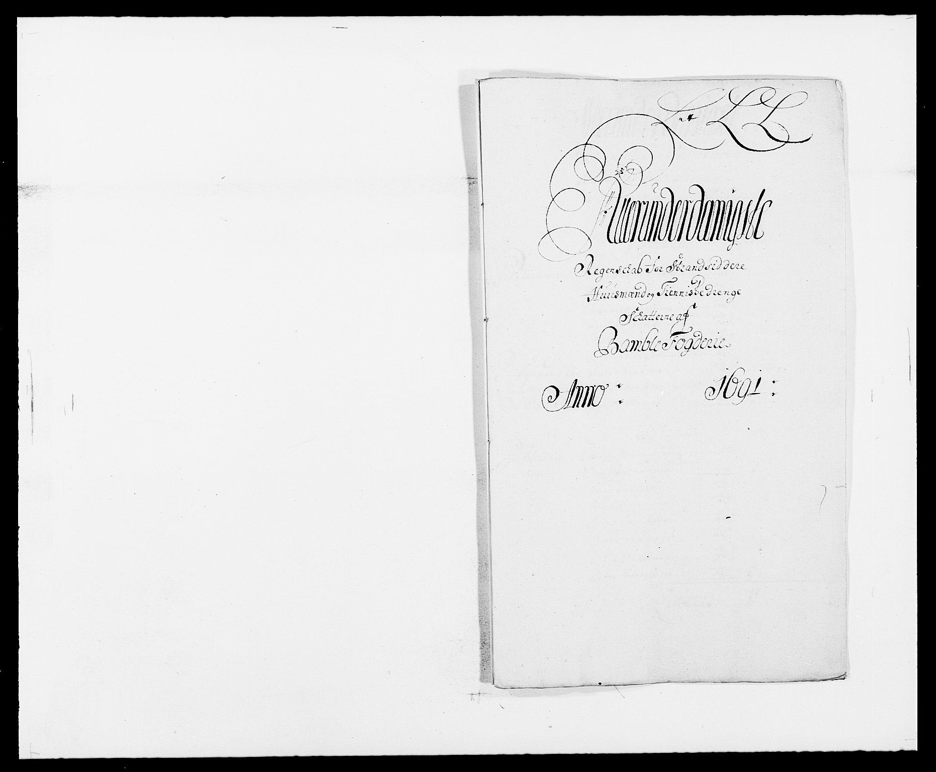 RA, Rentekammeret inntil 1814, Reviderte regnskaper, Fogderegnskap, R34/L2051: Fogderegnskap Bamble, 1688-1691, s. 204