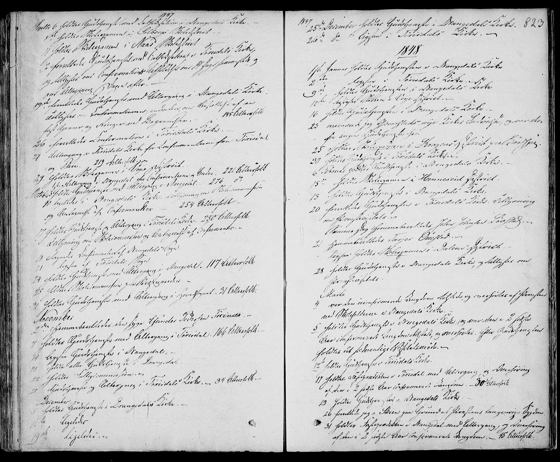 SAKO, Drangedal kirkebøker, F/Fa/L0007b: Ministerialbok nr. 7b, 1837-1856, s. 823