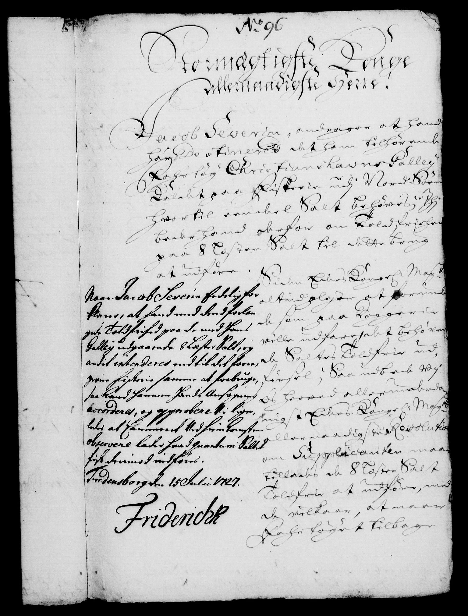 RA, Rentekammeret, Kammerkanselliet, G/Gf/Gfa/L0010: Norsk relasjons- og resolusjonsprotokoll (merket RK 52.10), 1727, s. 710