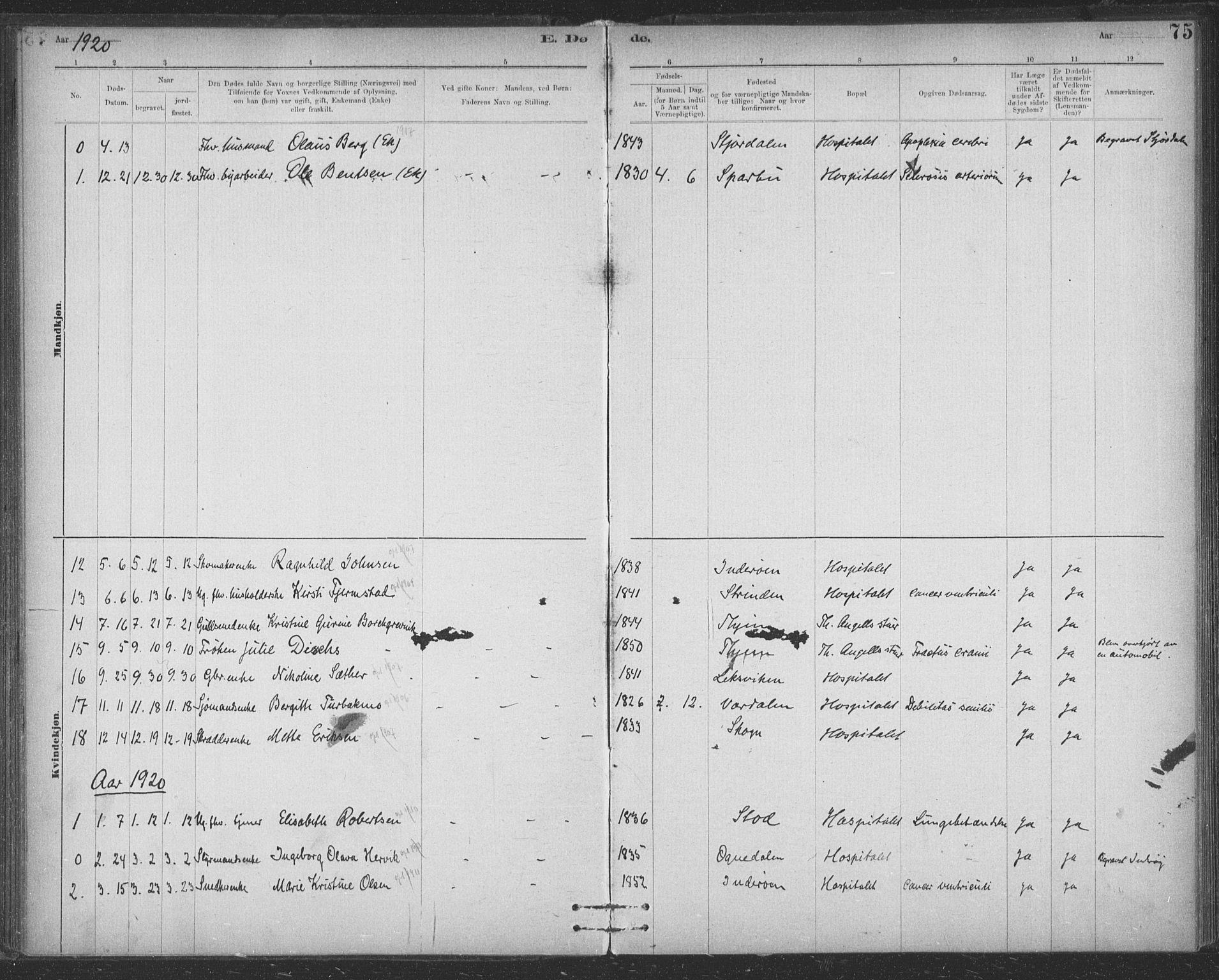 SAT, Ministerialprotokoller, klokkerbøker og fødselsregistre - Sør-Trøndelag, 623/L0470: Ministerialbok nr. 623A04, 1884-1938, s. 75