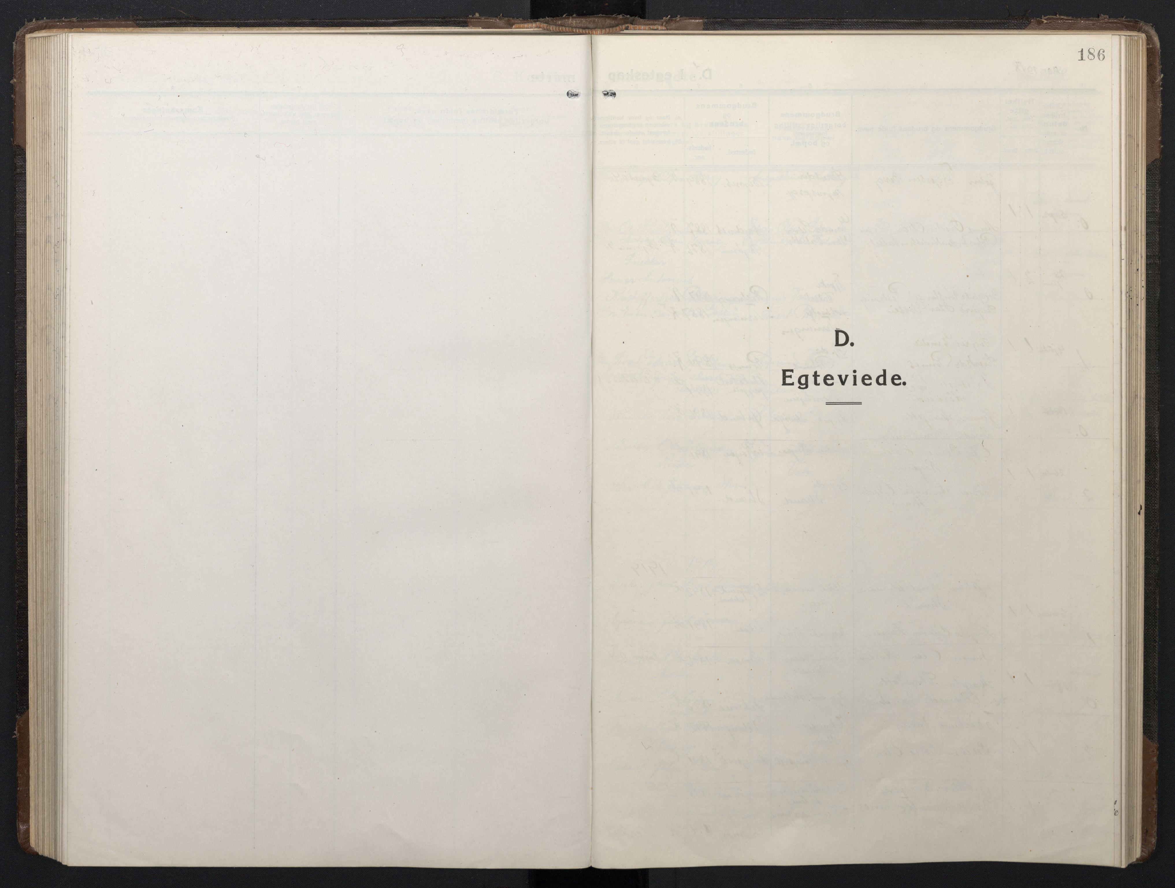 SAT, Ministerialprotokoller, klokkerbøker og fødselsregistre - Sør-Trøndelag, 662/L0758: Klokkerbok nr. 662C03, 1918-1948, s. 186