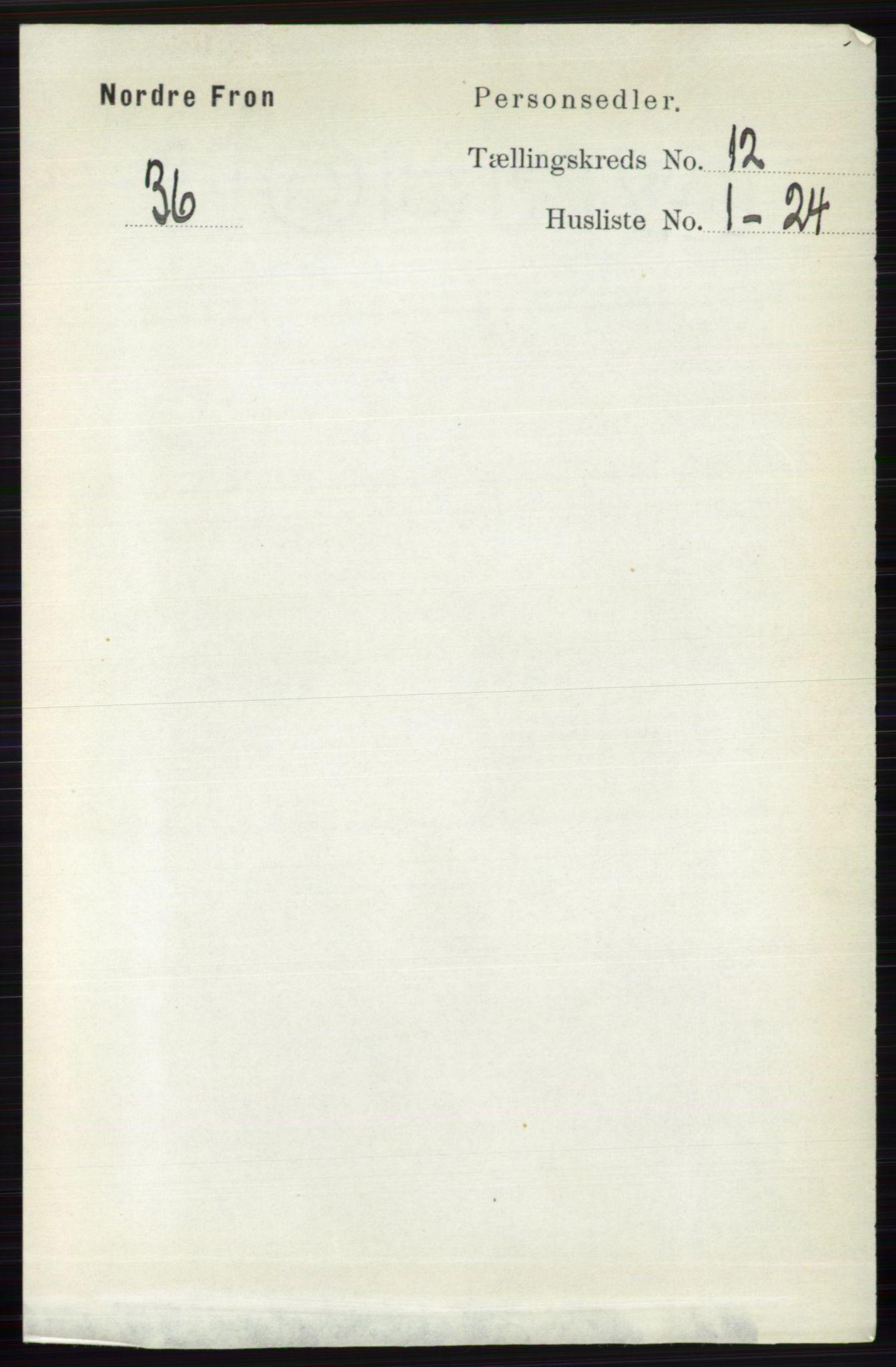 RA, Folketelling 1891 for 0518 Nord-Fron herred, 1891, s. 5105