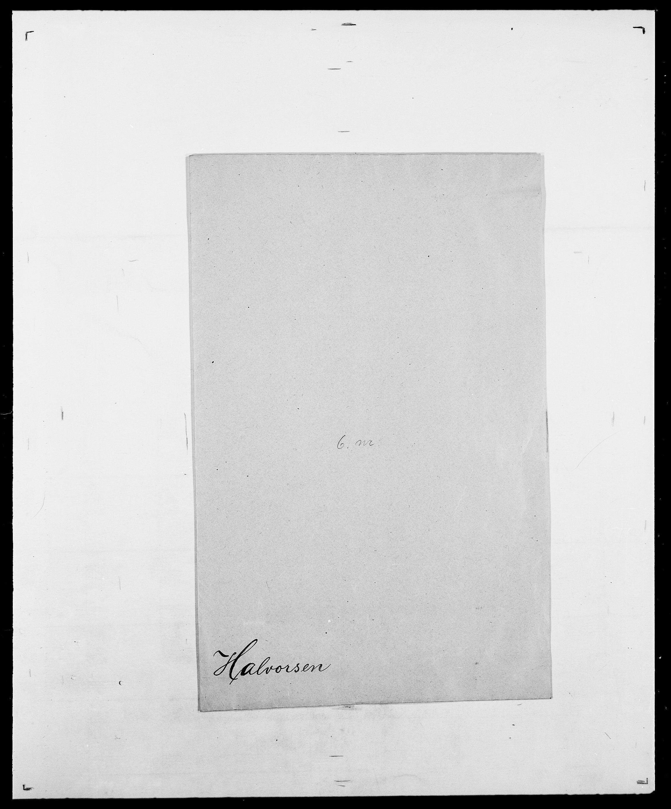 SAO, Delgobe, Charles Antoine - samling, D/Da/L0015: Grodtshilling - Halvorsæth, s. 832