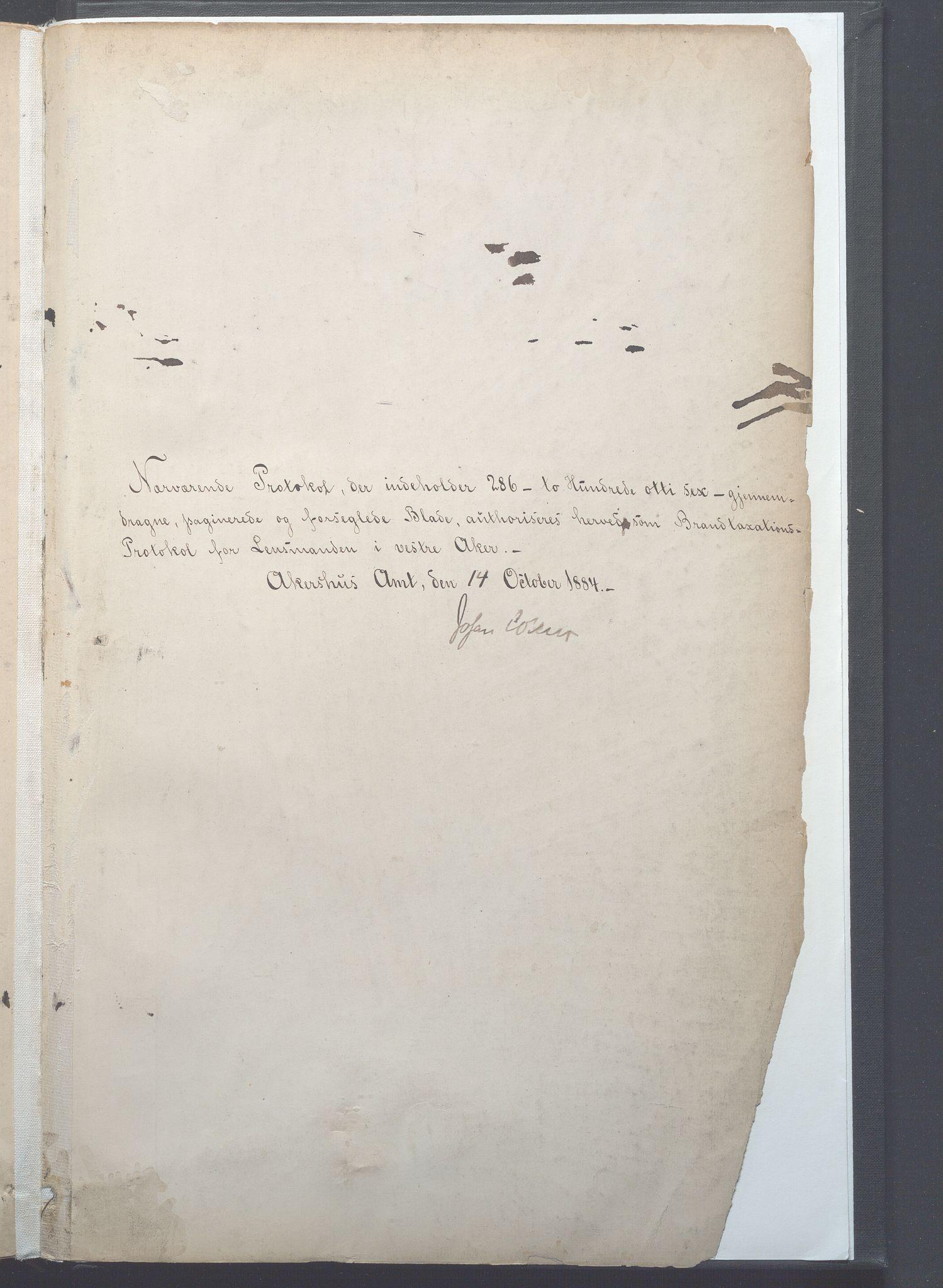 OBA, Lensmennene i Aker, F/Fa/L0008: Branntakstprotokoll, 1893-1899