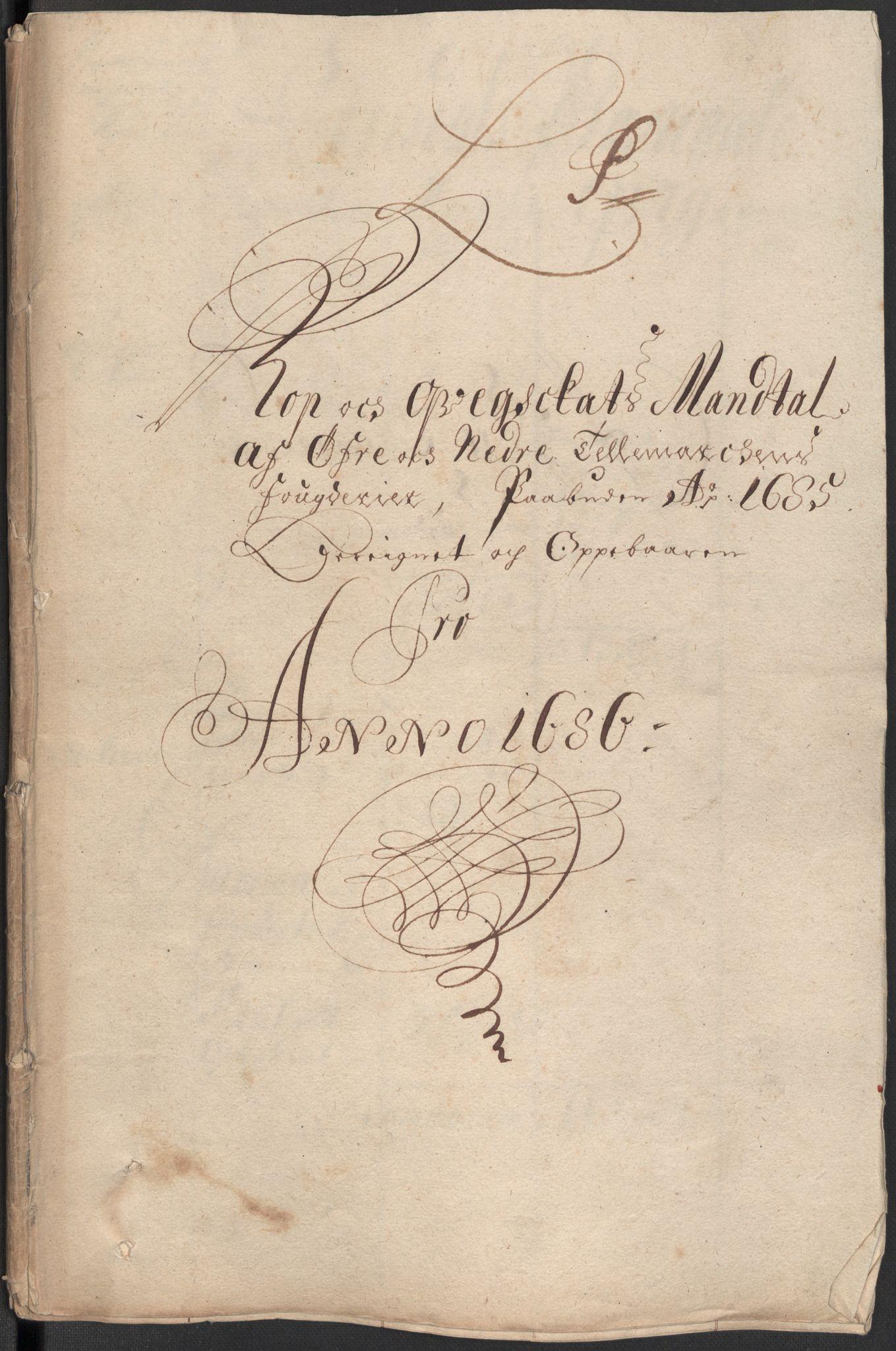 RA, Rentekammeret inntil 1814, Reviderte regnskaper, Fogderegnskap, R35/L2083: Fogderegnskap Øvre og Nedre Telemark, 1686, s. 322