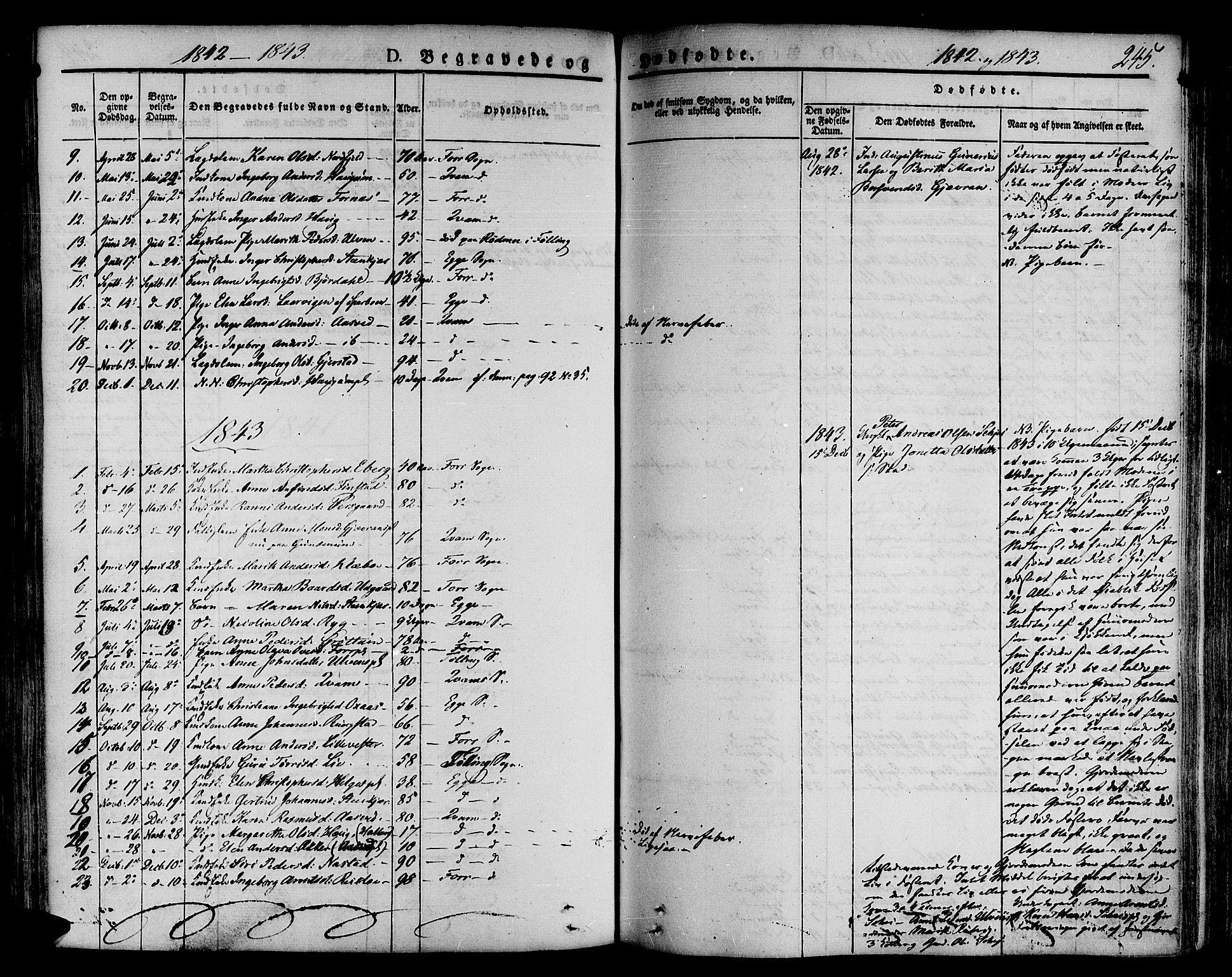 SAT, Ministerialprotokoller, klokkerbøker og fødselsregistre - Nord-Trøndelag, 746/L0445: Ministerialbok nr. 746A04, 1826-1846, s. 245