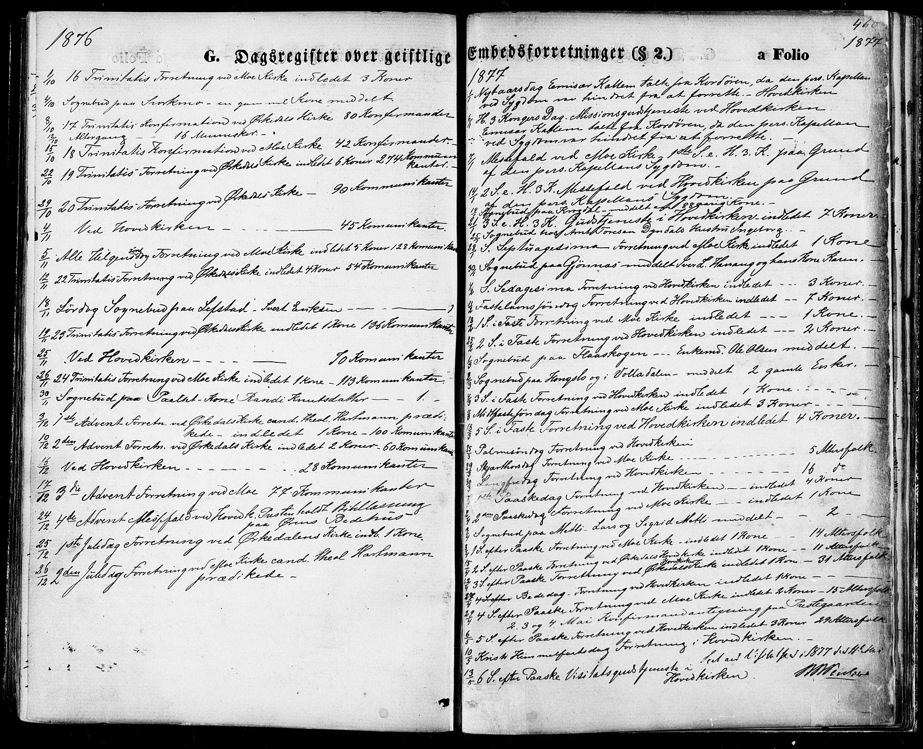 SAT, Ministerialprotokoller, klokkerbøker og fødselsregistre - Sør-Trøndelag, 668/L0807: Ministerialbok nr. 668A07, 1870-1880, s. 462