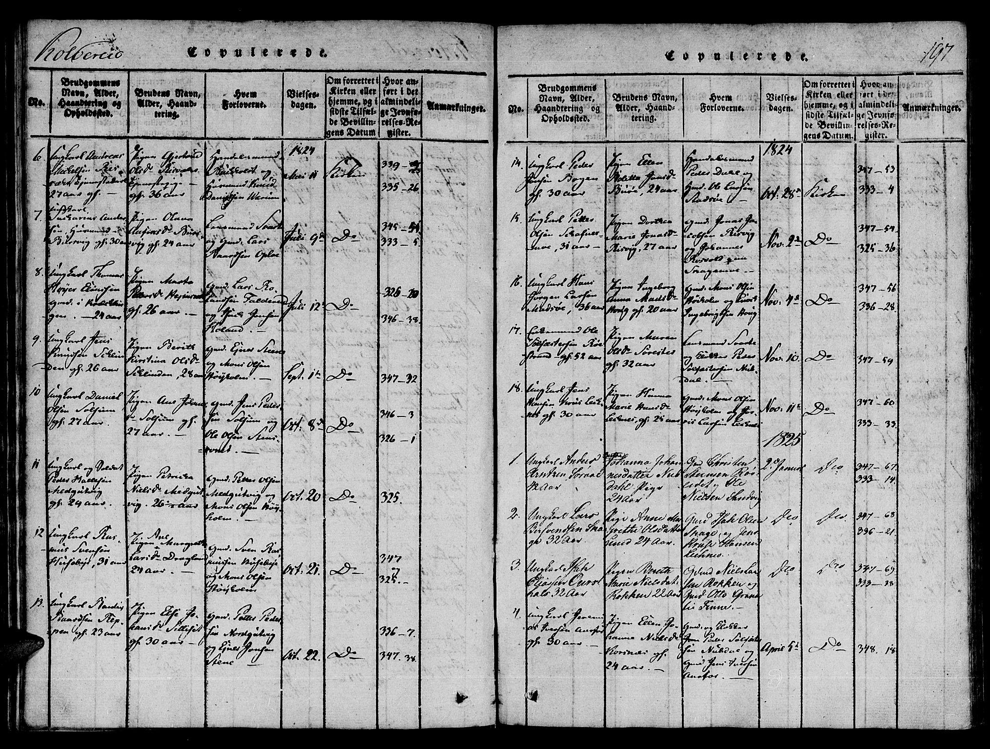 SAT, Ministerialprotokoller, klokkerbøker og fødselsregistre - Nord-Trøndelag, 780/L0636: Ministerialbok nr. 780A03 /1, 1815-1830, s. 197