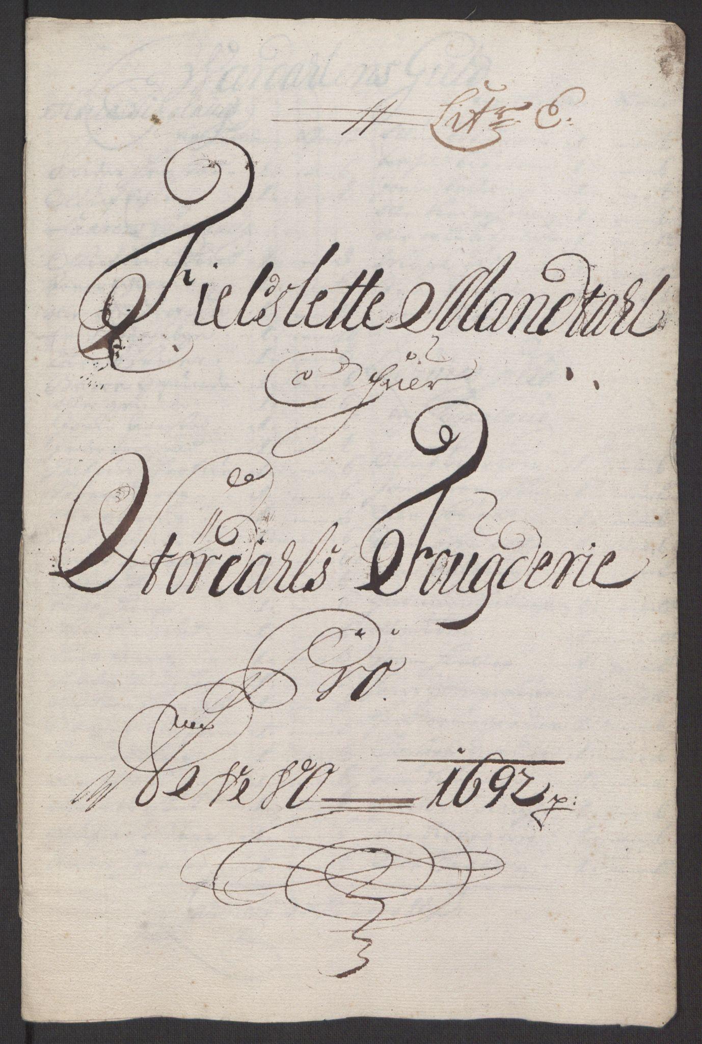 RA, Rentekammeret inntil 1814, Reviderte regnskaper, Fogderegnskap, R62/L4185: Fogderegnskap Stjørdal og Verdal, 1692, s. 97