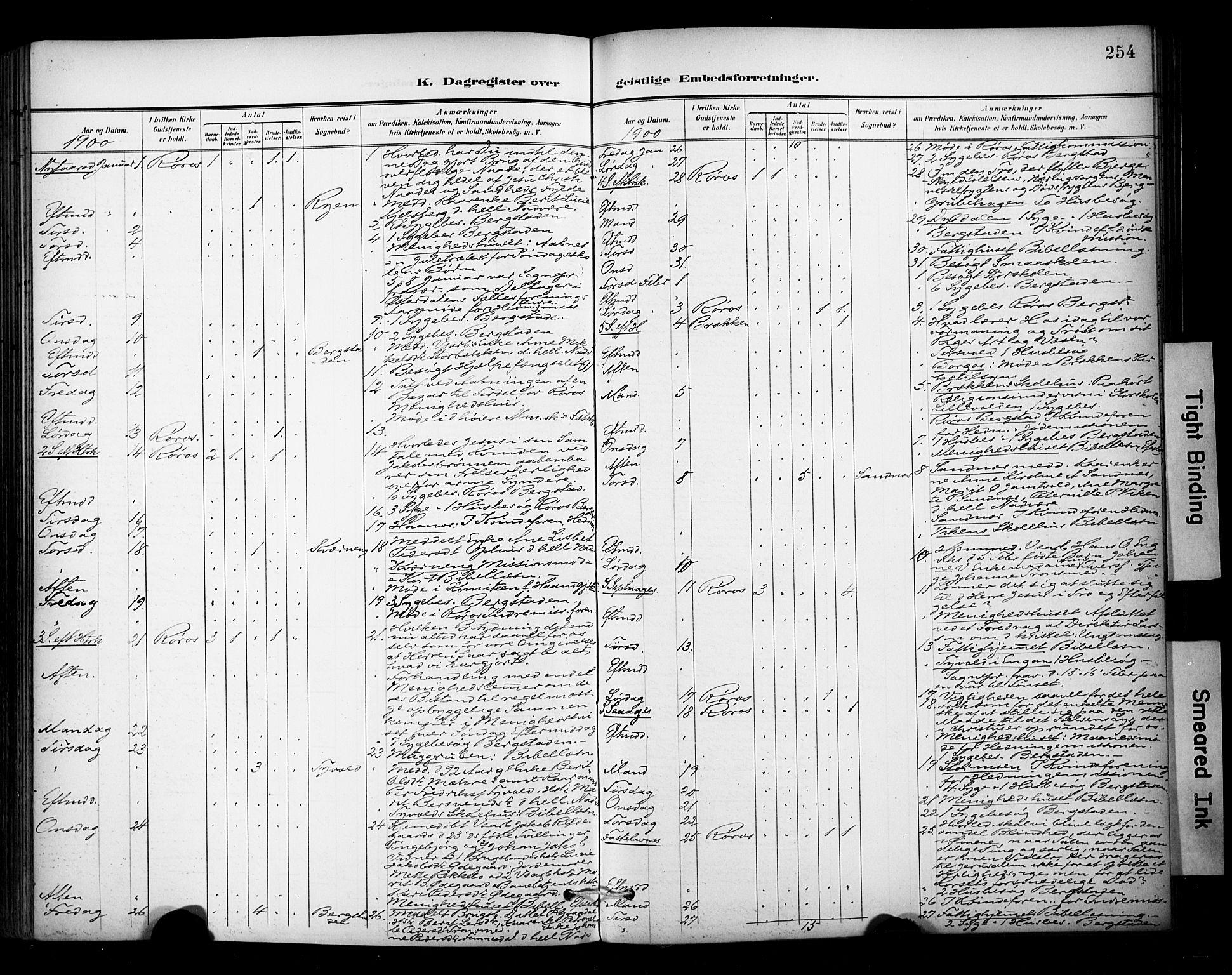 SAT, Ministerialprotokoller, klokkerbøker og fødselsregistre - Sør-Trøndelag, 681/L0936: Ministerialbok nr. 681A14, 1899-1908, s. 254