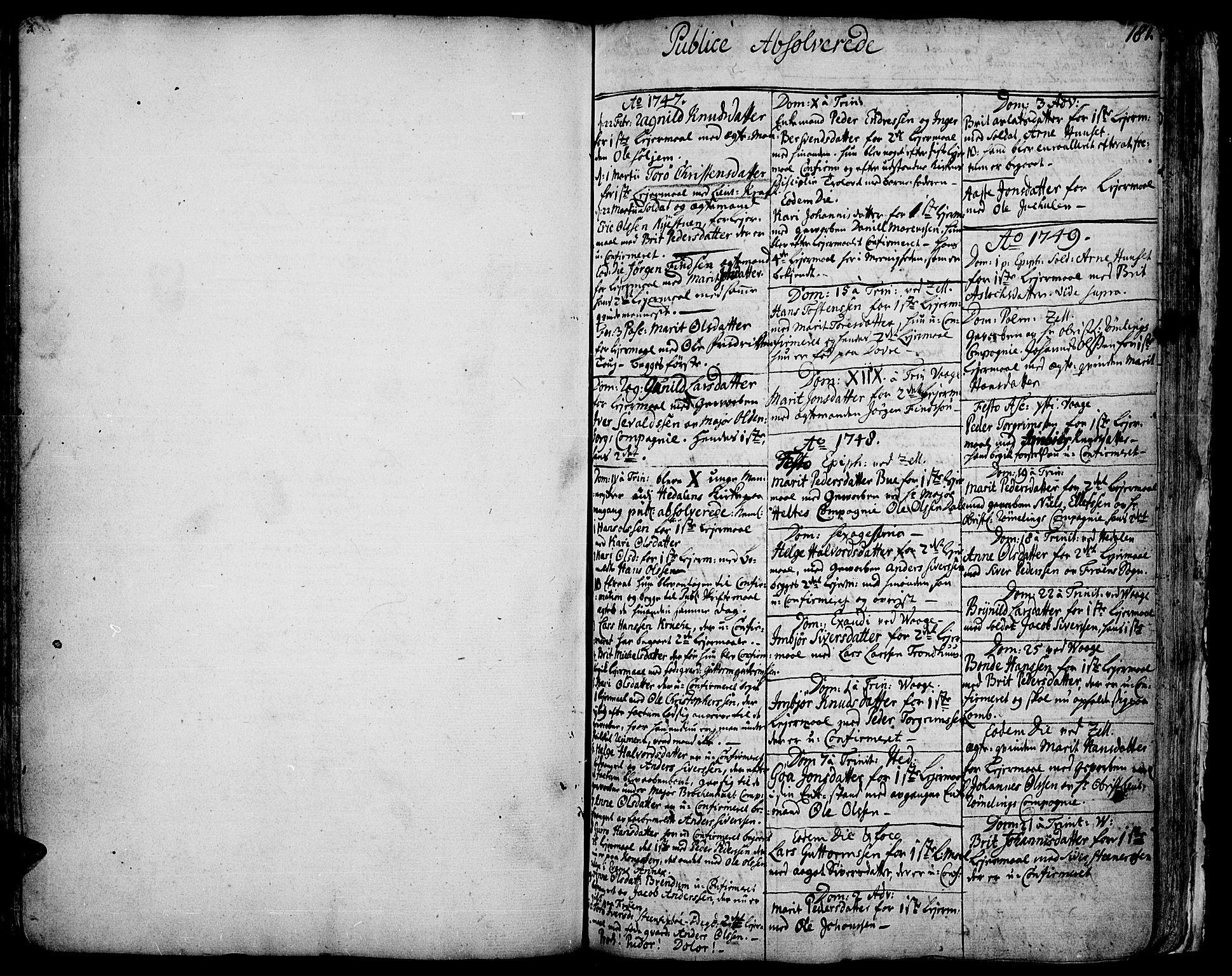 SAH, Vågå prestekontor, Ministerialbok nr. 1, 1739-1810, s. 181